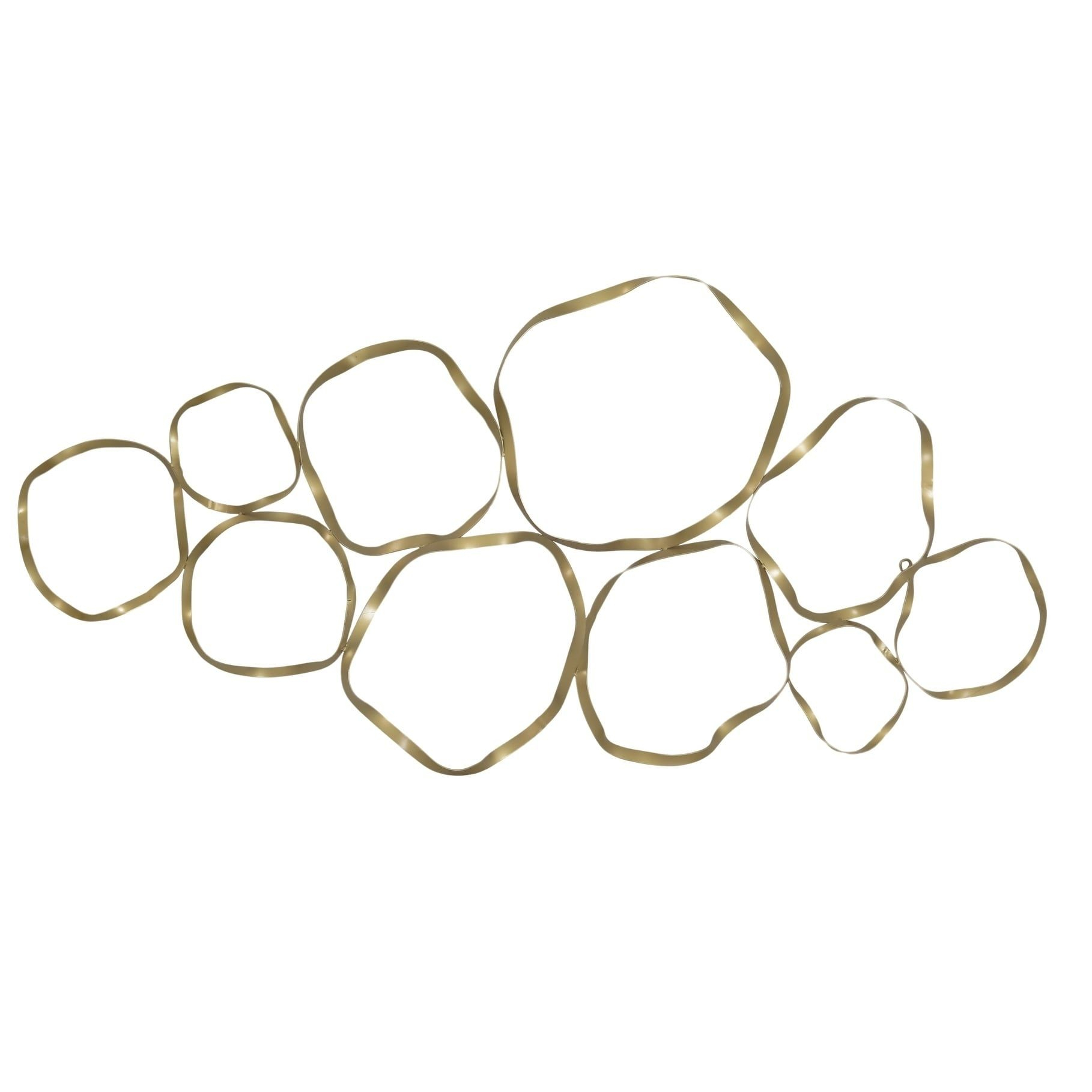 Aurelle Home Euclid Gold Metal (grey) Wall Art | Products Within Rioux Birds On A Wire Wall Decor (View 14 of 30)