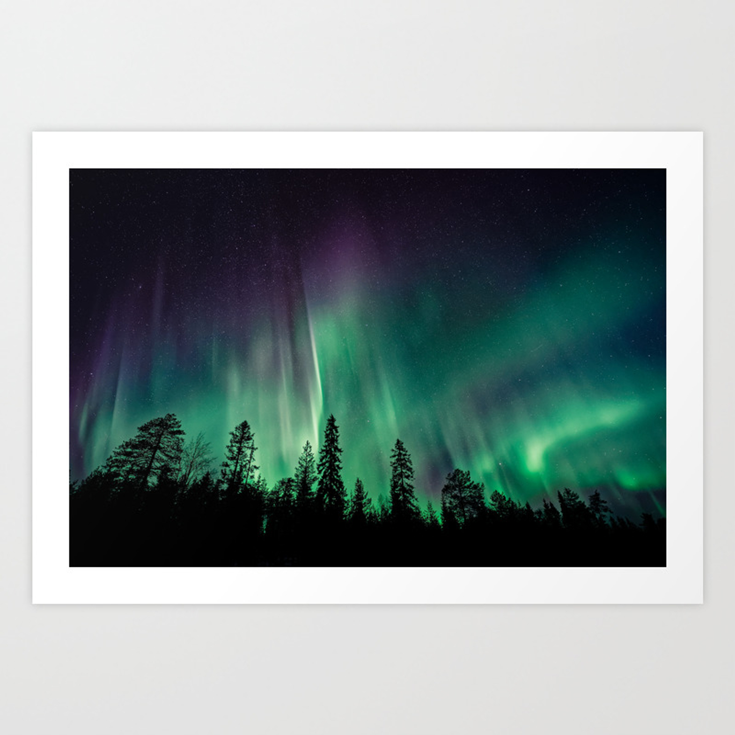 Aurora Borealis (Heavenly Northern Lights) Art Print intended for Aurora Sun Wall Decor (Image 4 of 30)
