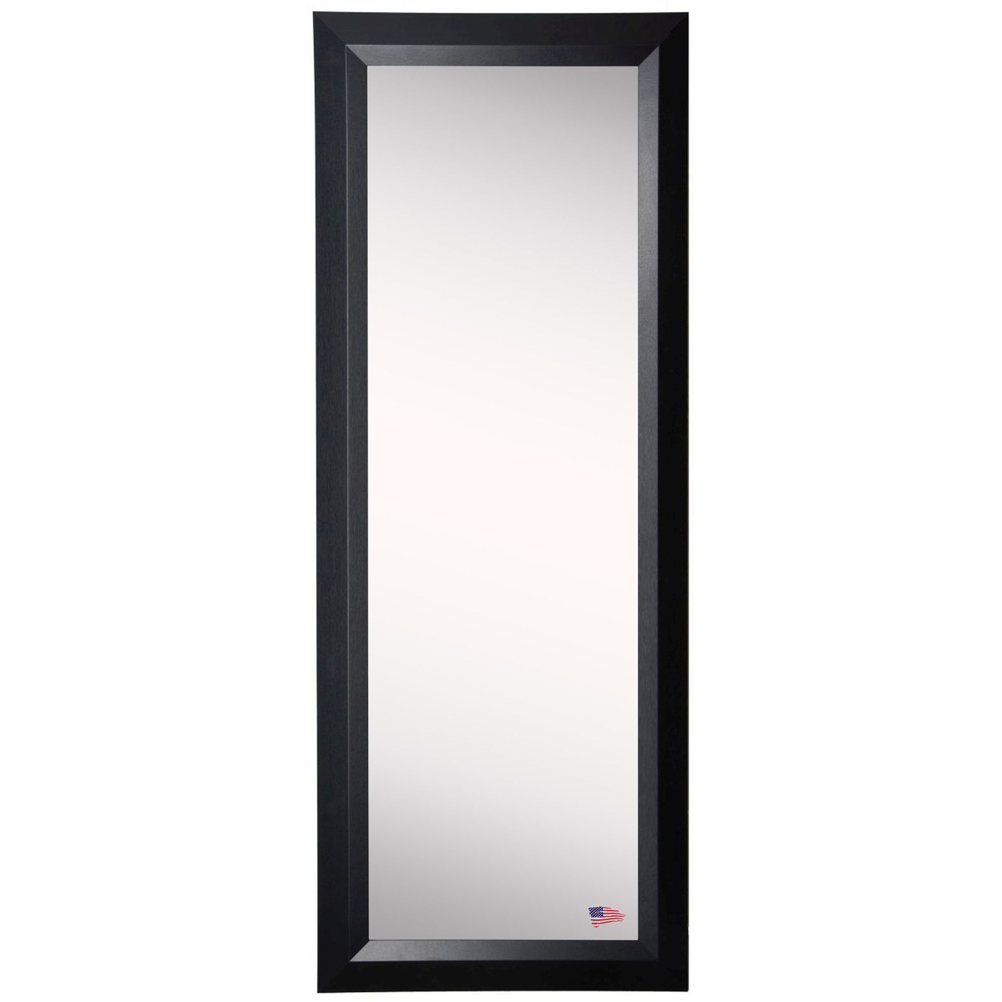 Ava Popular Black Slant Full Length Body Mirror | Products Throughout Dalessio Wide Tall Full Length Mirrors (View 2 of 30)