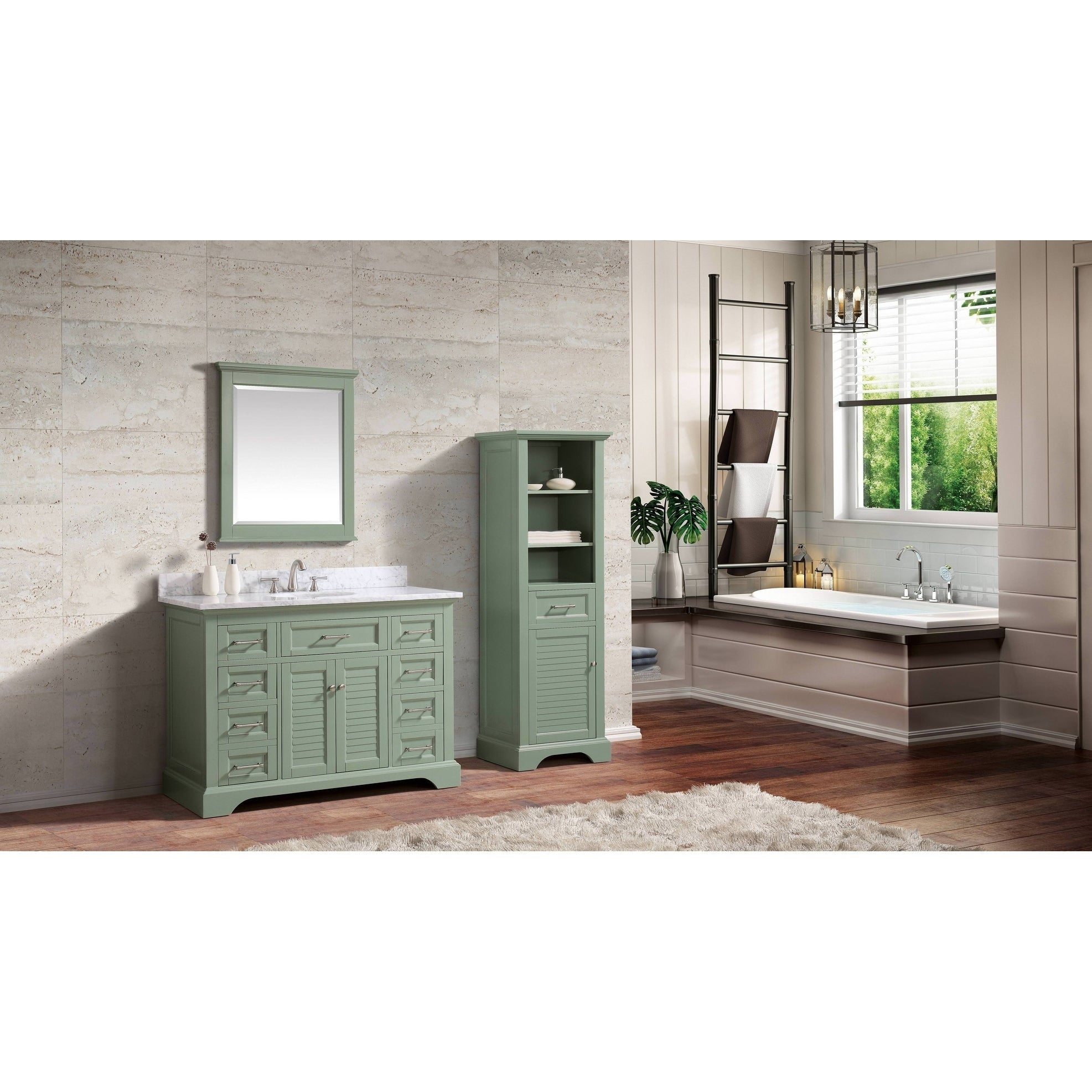 """Avanity Colton 28 In. Wall Mirror - Basil Green - Basil Green - 28""""w X 32""""h regarding Colton Modern & Contemporary Wall Mirrors (Image 3 of 30)"""