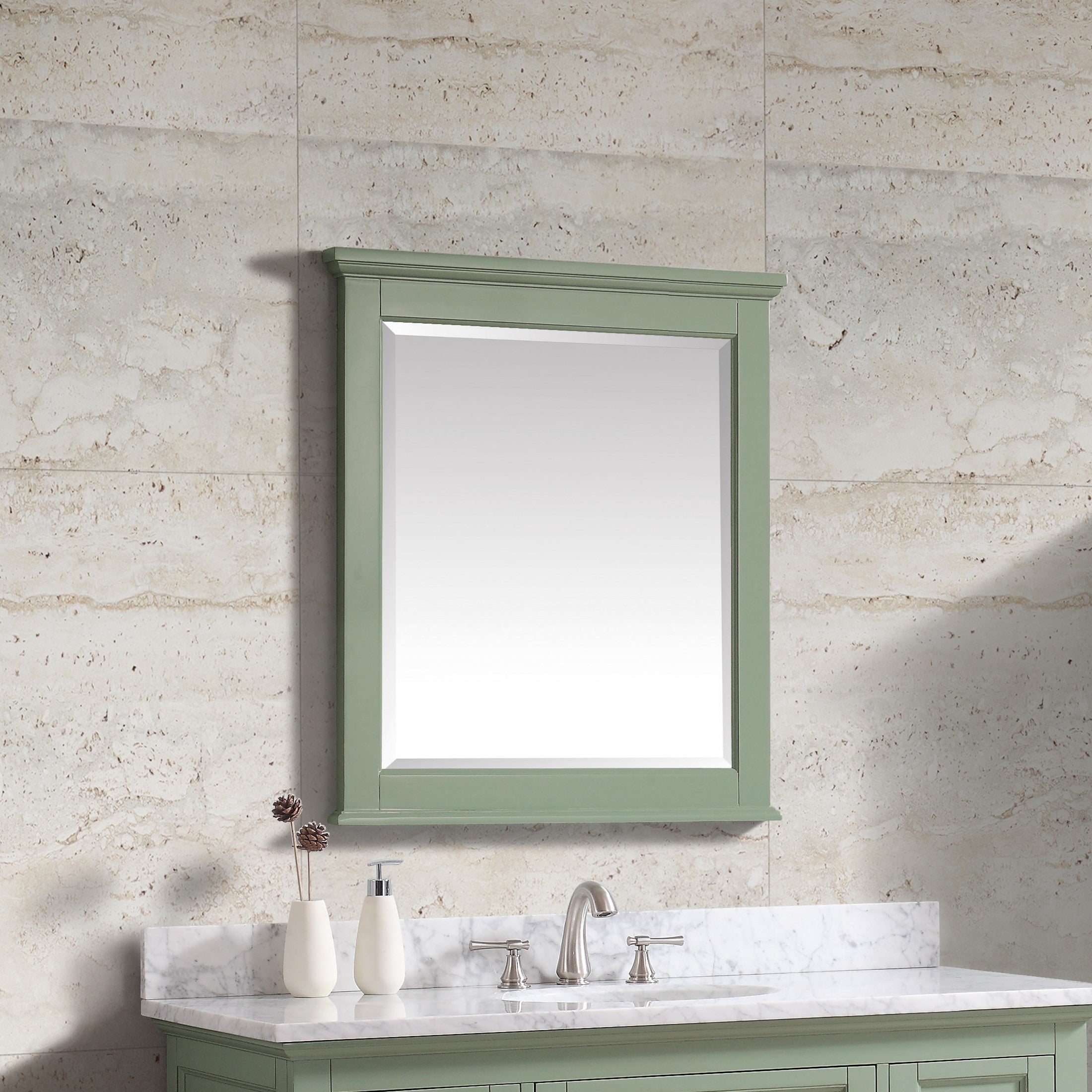 """Avanity Colton 28 In. Wall Mirror - Basil Green - Basil Green - 28""""w X 32""""h with Colton Modern & Contemporary Wall Mirrors (Image 4 of 30)"""