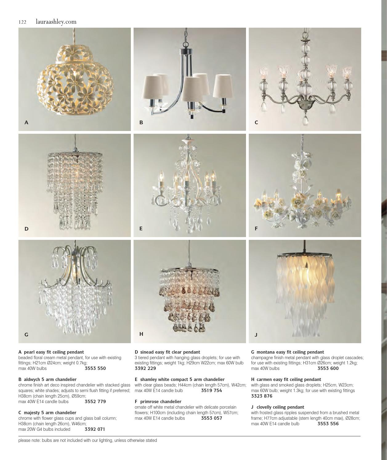 Aw13 Kataloglaura Ashley Sweden - Issuu within Sinead 4-Light Chandeliers (Image 11 of 30)