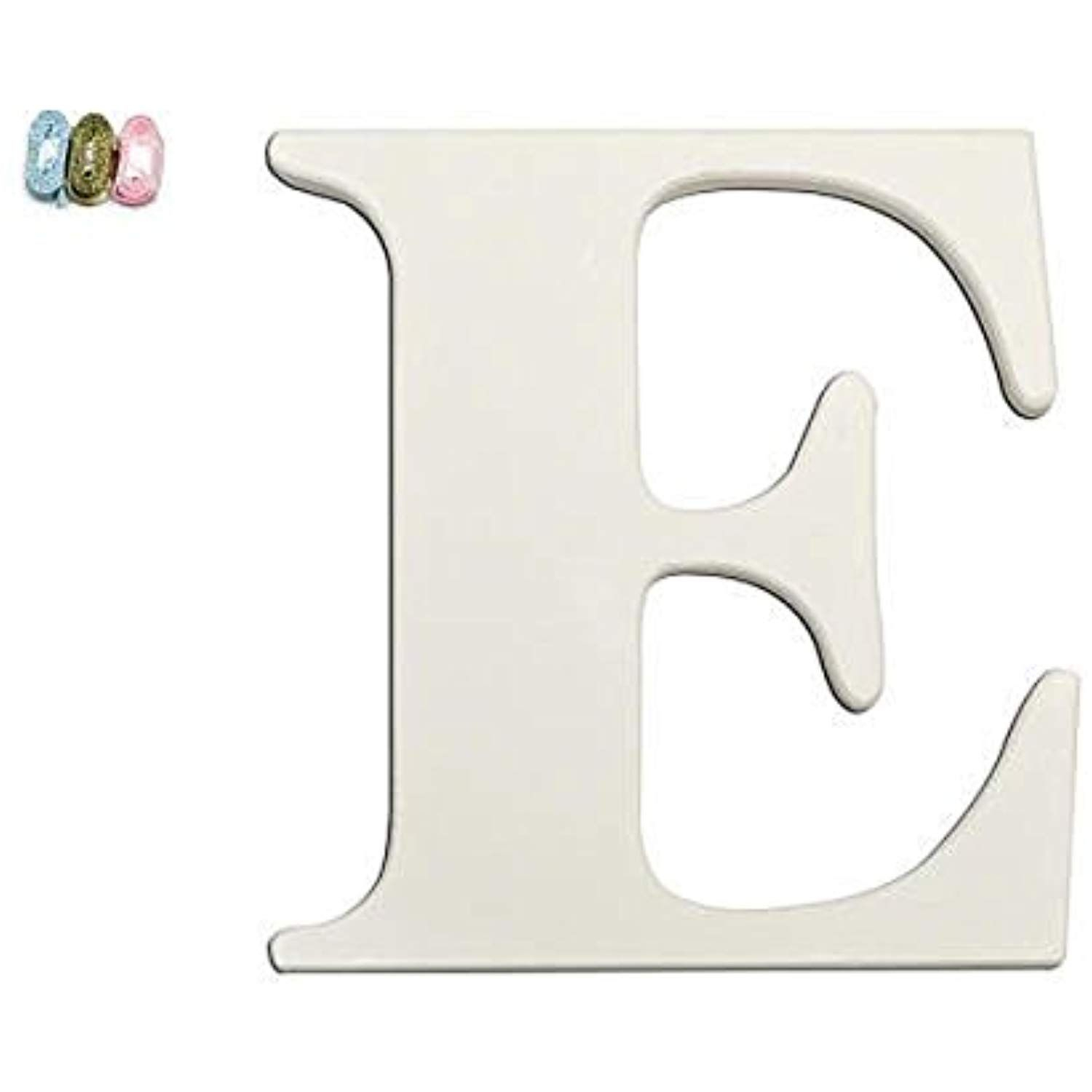 "Babies""r""us E Wooden Personalizable Letter Wall Decor White within Mccue 11.5"" Typewriter Text Wall Decor (Image 9 of 30)"