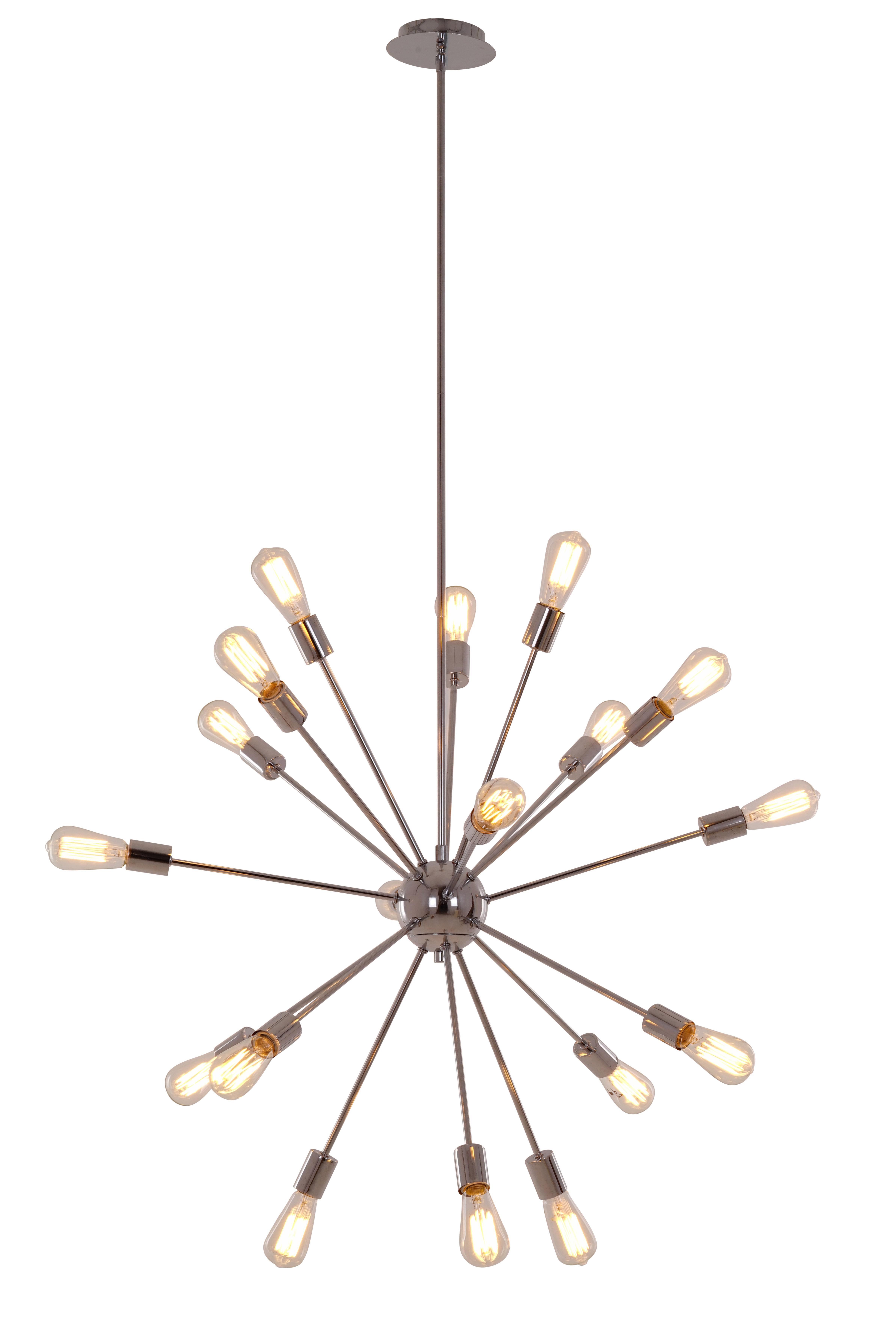 Bach 18 Light Chandelier Inside Defreitas 18 Light Sputnik Chandeliers (View 10 of 30)