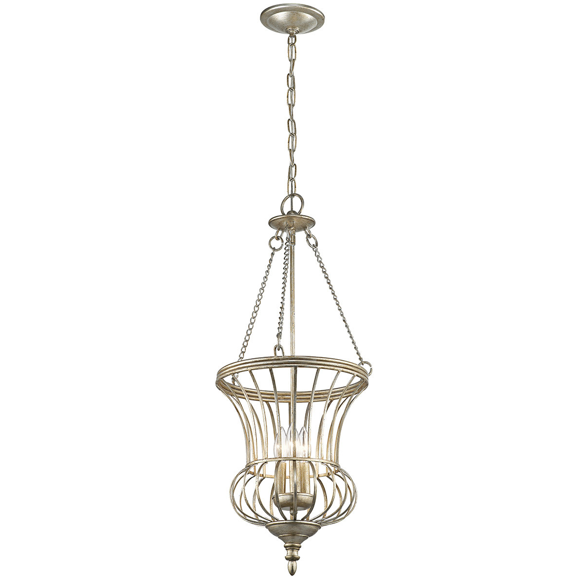 Badgley 3-Light Urn Pendant within Spokane 1-Light Single Urn Pendants (Image 4 of 30)