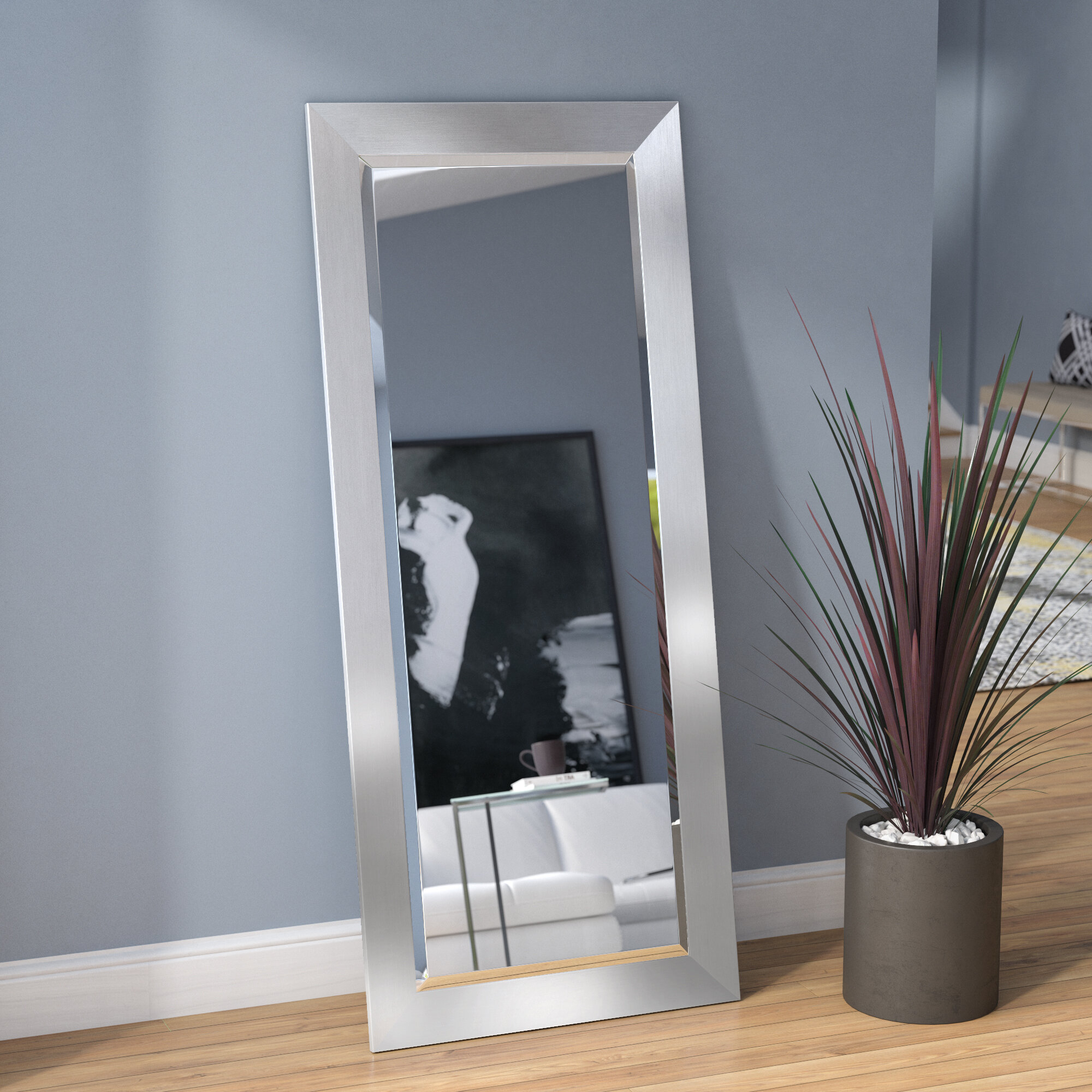Bahamas Silver Modern And Contemporary Beveled Wall Mirror pertaining to Modern & Contemporary Beveled Wall Mirrors (Image 2 of 30)