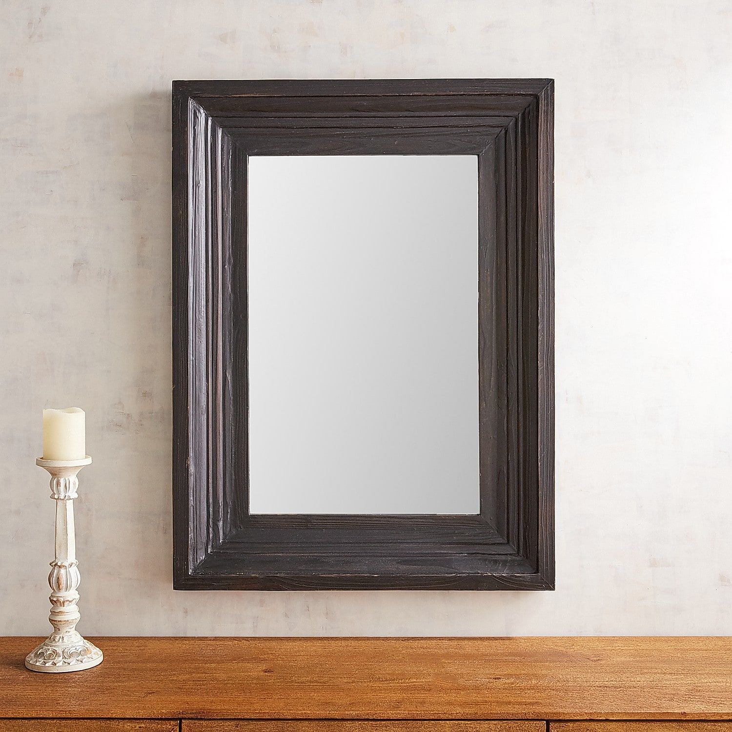 Bailey Farmhouse 30X40 Black Mirror | Products | Mirror within Bartolo Accent Mirrors (Image 8 of 30)
