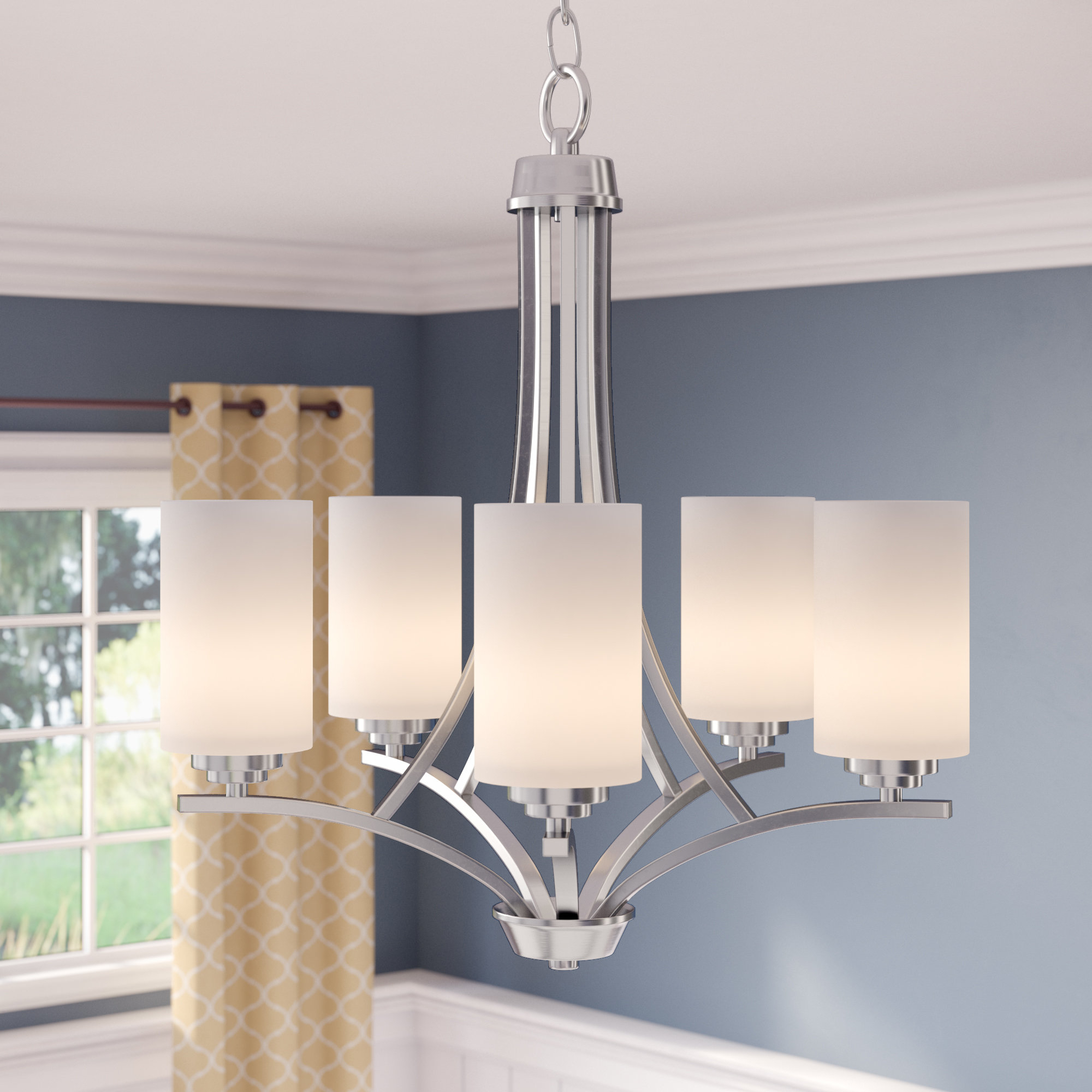 Bainsby 5 Light Shaded Chandelier In Suki 5 Light Shaded Chandeliers (View 4 of 30)