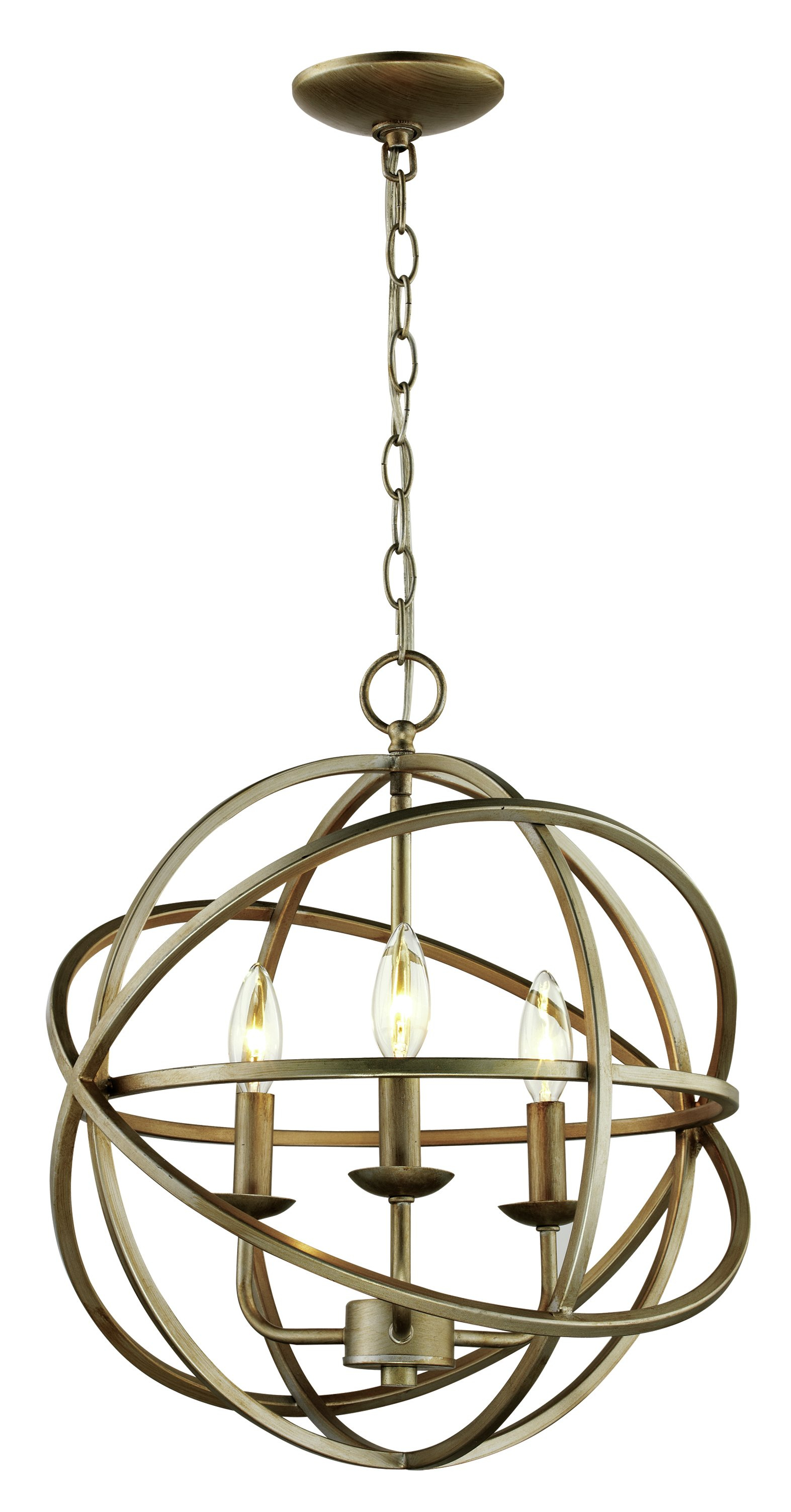 Baitz 3 Light Globe Chandelier With La Barge 3 Light Globe Chandeliers (View 7 of 30)