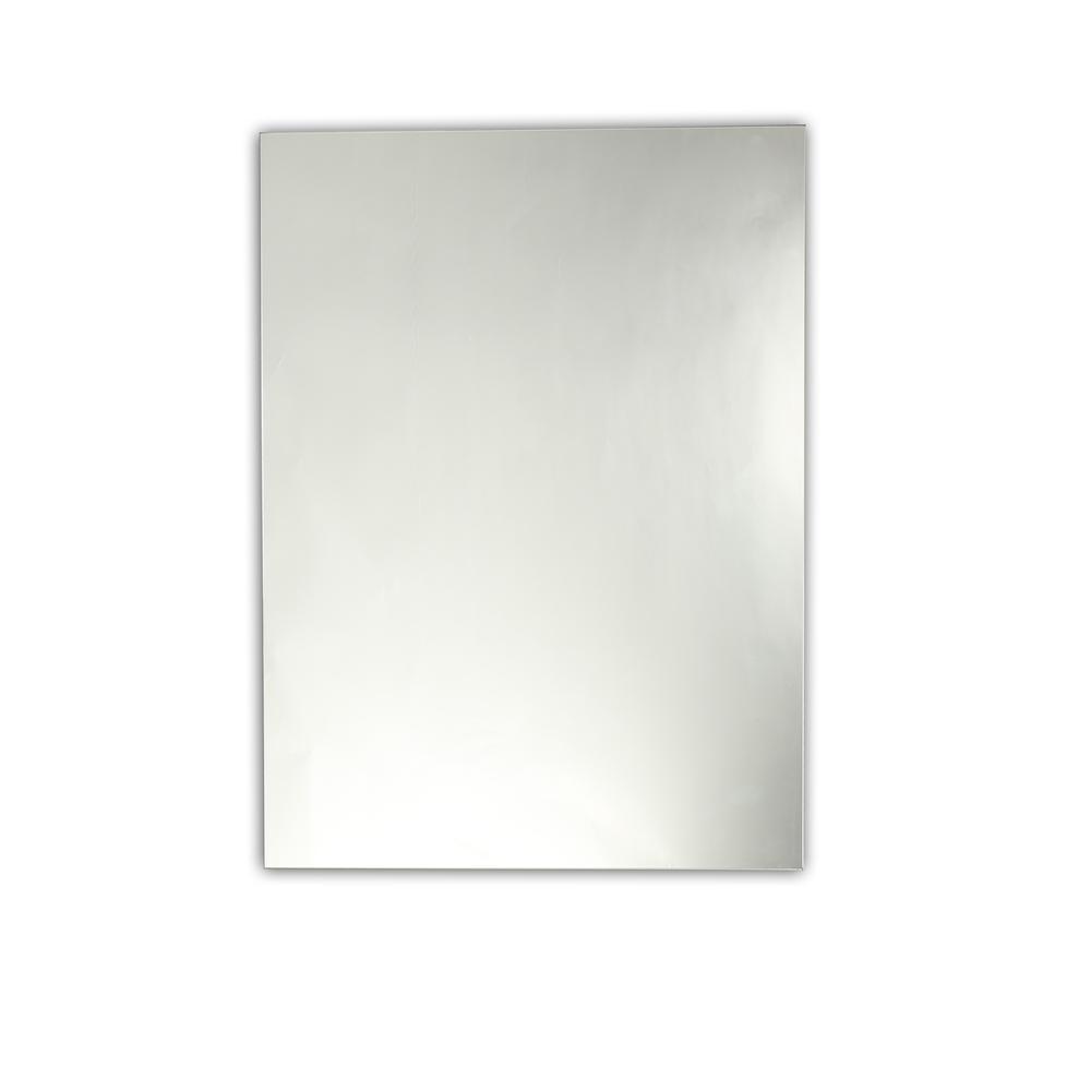 Baldwin Large Frameless Wall Mirror 28X35Chloe Lighting Pertaining To Lidya Frameless Beveled Wall Mirrors (View 28 of 30)