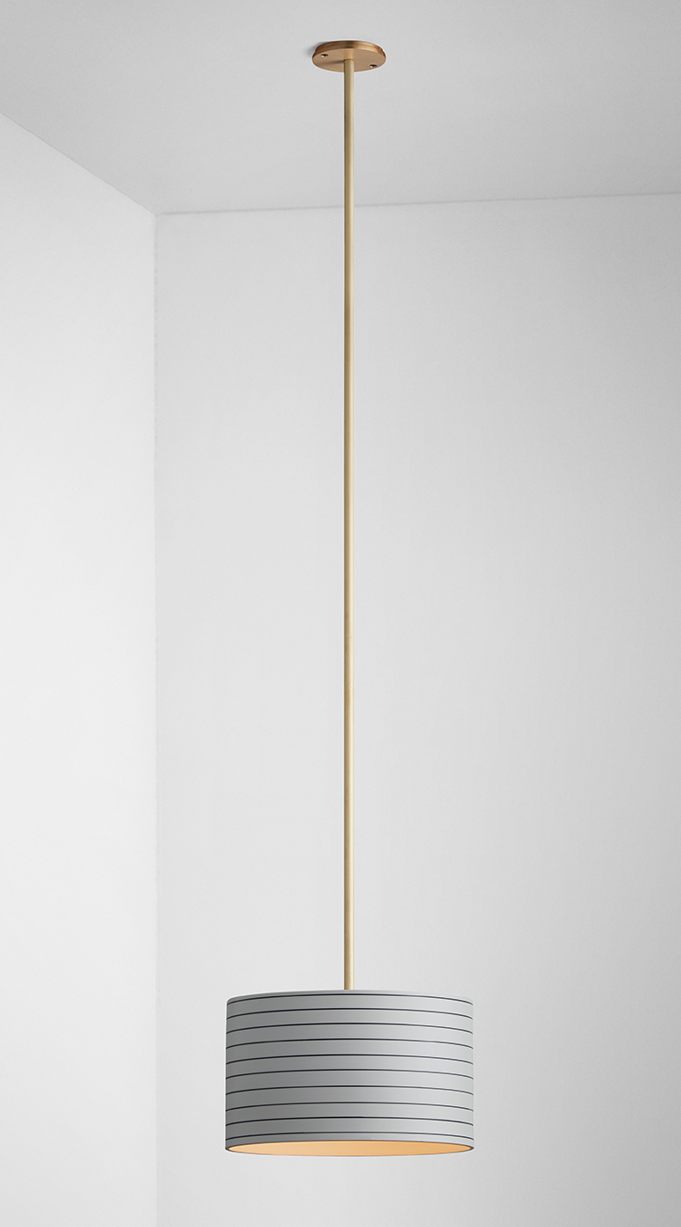 Banded Pendant Stripe Brass – Articolo | Lighting In 2019 Throughout Barrons 1 Light Single Cylinder Pendants (View 20 of 30)