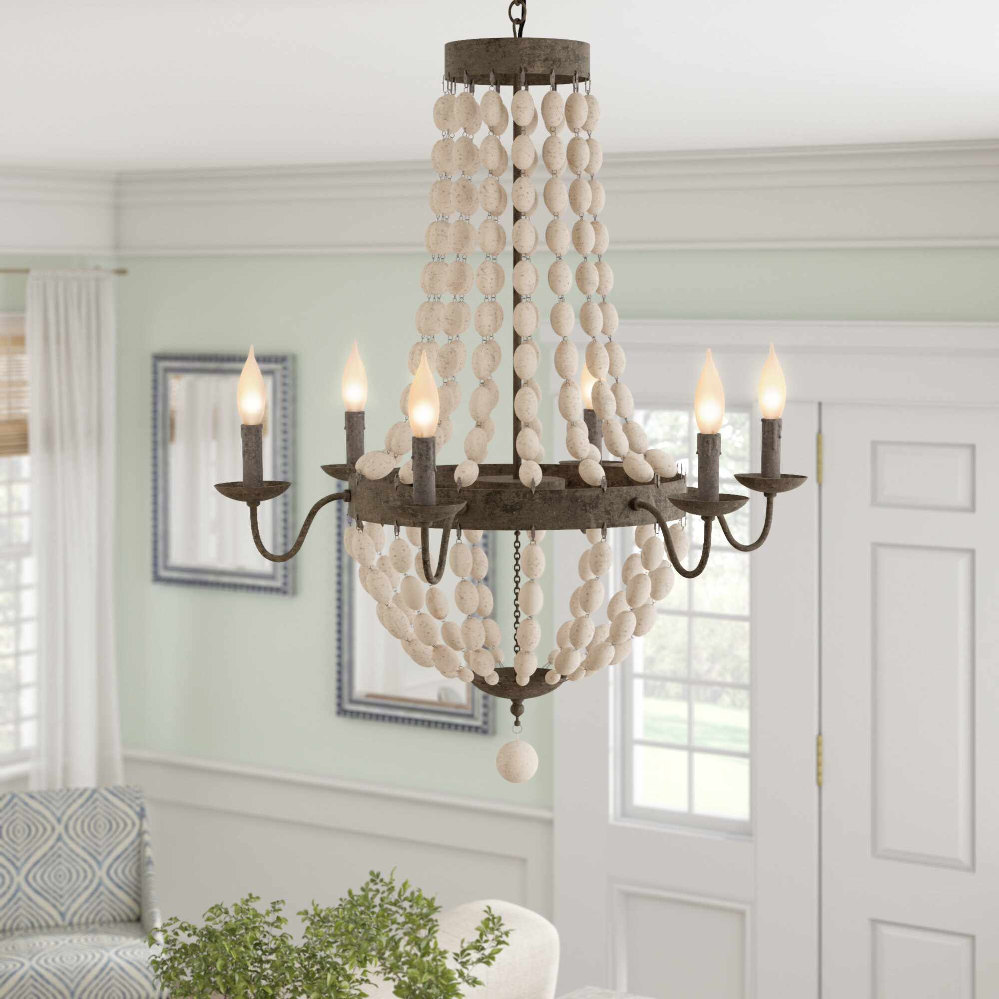 Bargas 6 Light Empire Chandelier Throughout Duron 5 Light Empire Chandeliers (View 5 of 30)