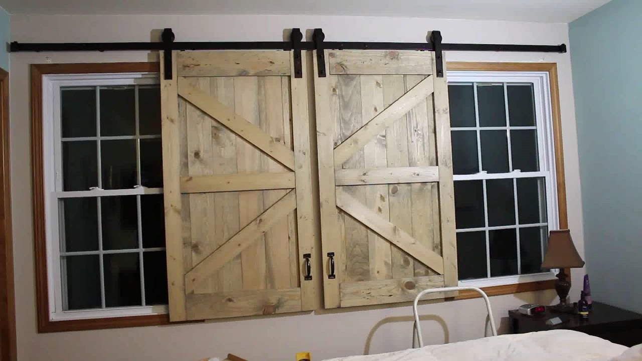 Barn Door Headboard Window Covers throughout Old Rustic Barn Window Frame (Image 5 of 30)