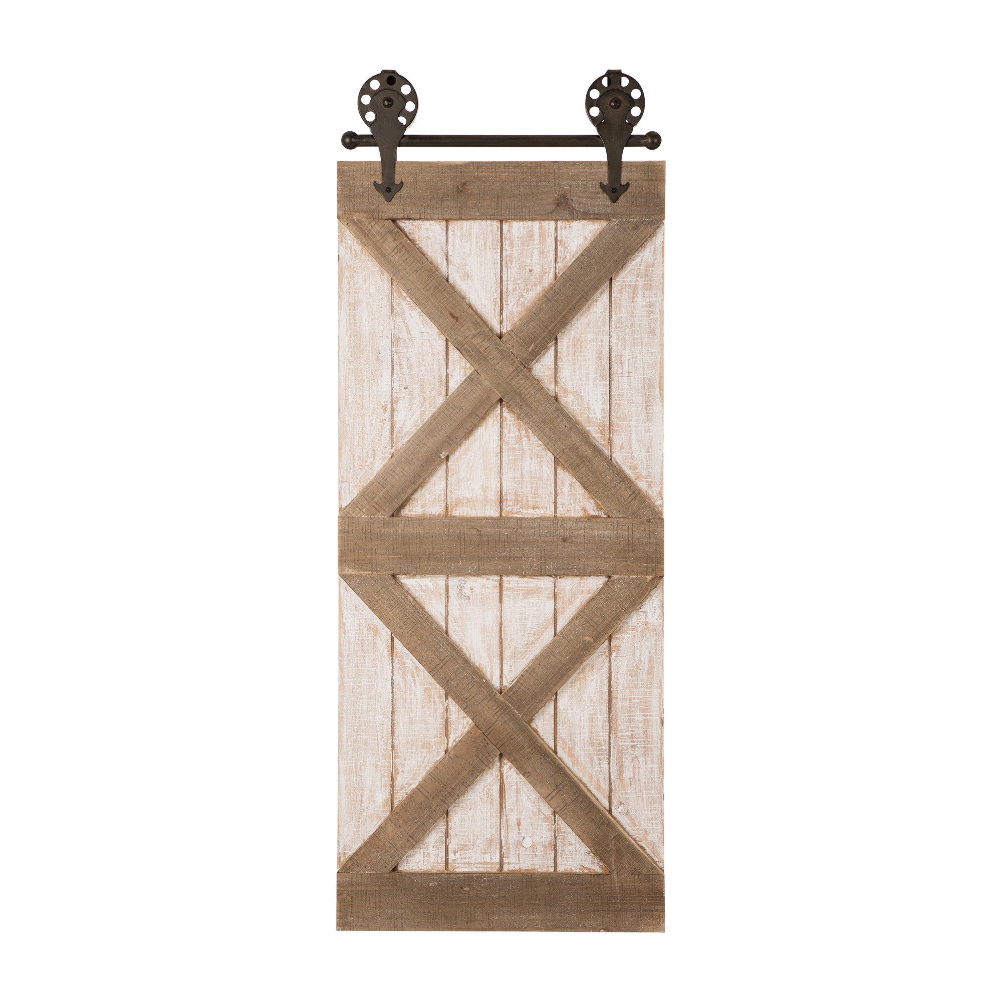 Barn Door Wall Décor with regard to Ornamental Wood and Metal Scroll Wall Decor (Image 5 of 30)