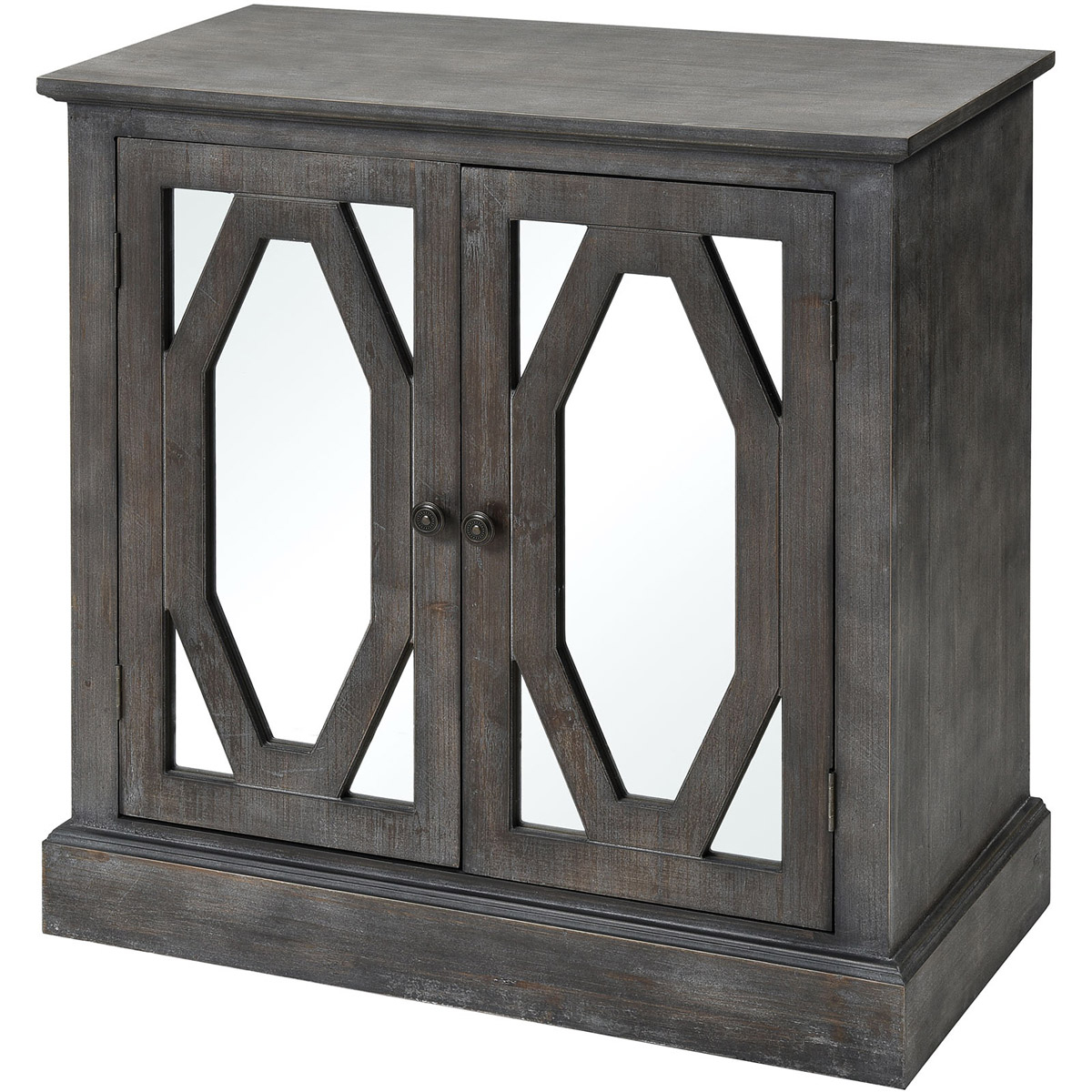Barn Wood Rosendale Carved Accent Ashley Furniture Glass pertaining to Kara 4 Door Accent Cabinets (Image 8 of 30)