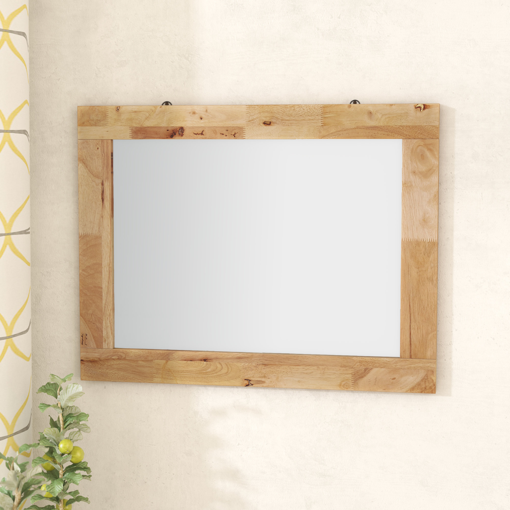 Barney Rustic Accent Wall Mirror regarding Longwood Rustic Beveled Accent Mirrors (Image 3 of 30)