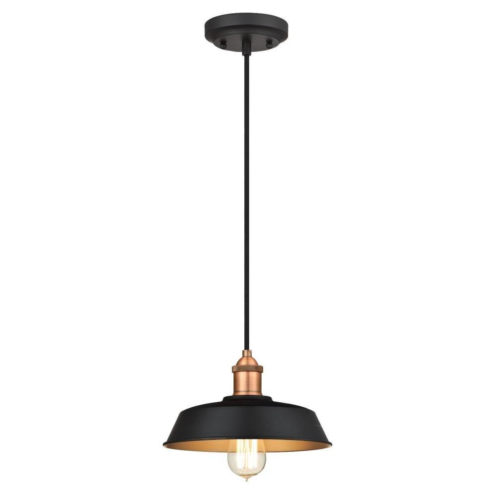Baskin 1-Light Dome Pendant for Stetson 1-Light Bowl Pendants (Image 6 of 30)