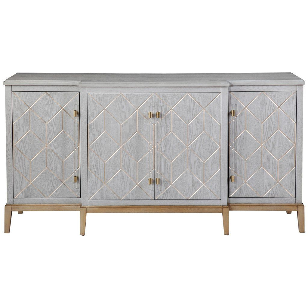 Bassett Mirror Company Perrine Server | House | Sideboard with regard to Rosson Sideboards (Image 5 of 30)