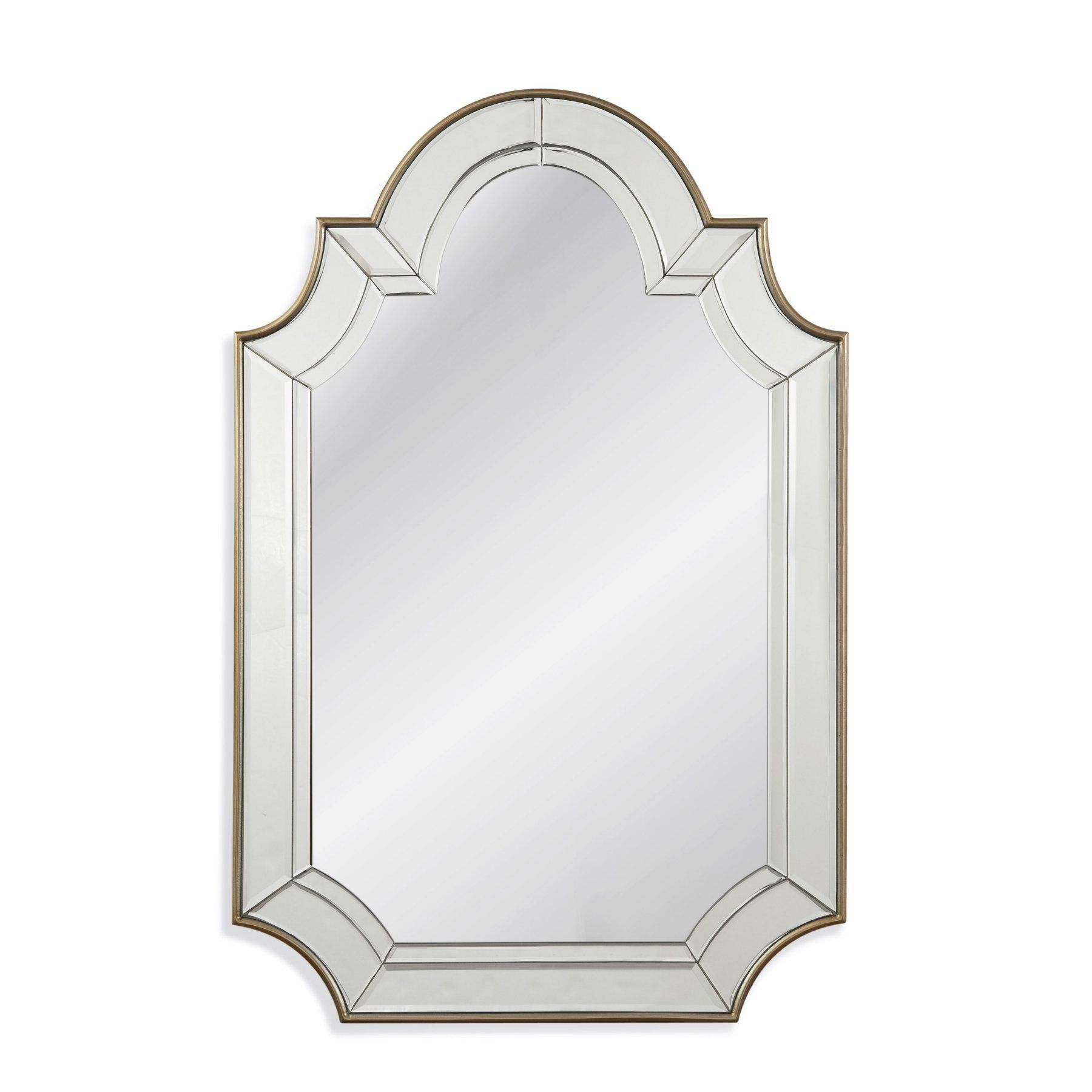 Bassett Mirror Phaedra Wall Mirror – 30w X 46h In With Ekaterina Arch/crowned Top Wall Mirrors (View 8 of 30)