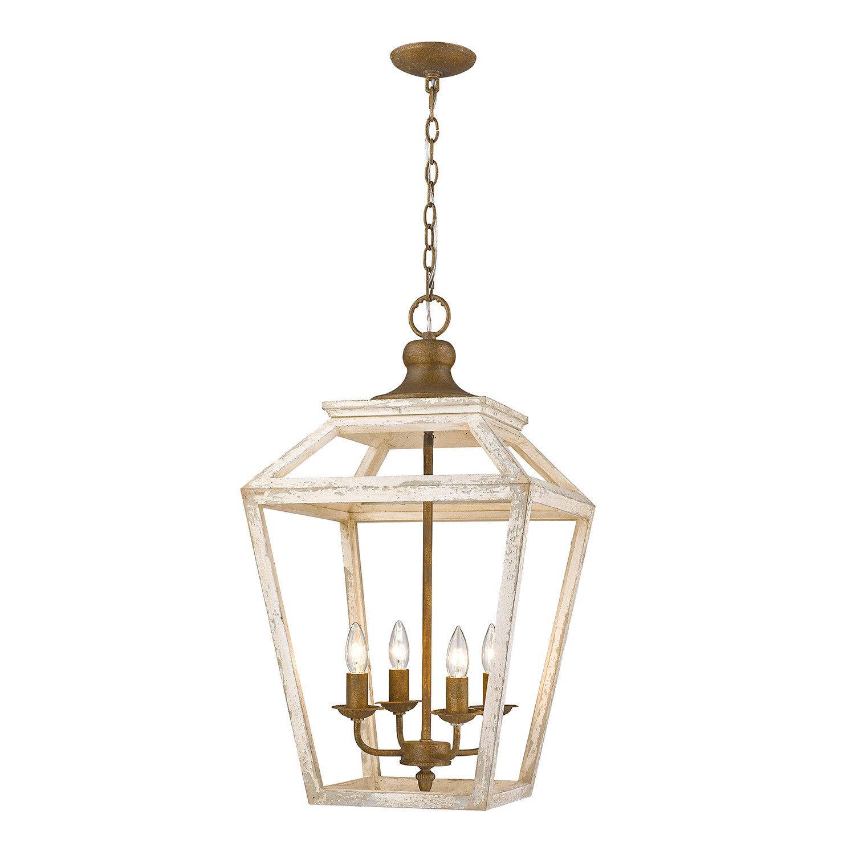 Baugher 4 Light Lantern Geometric Pendant With Regard To Finnick 1 Light Geometric Pendants (View 20 of 30)