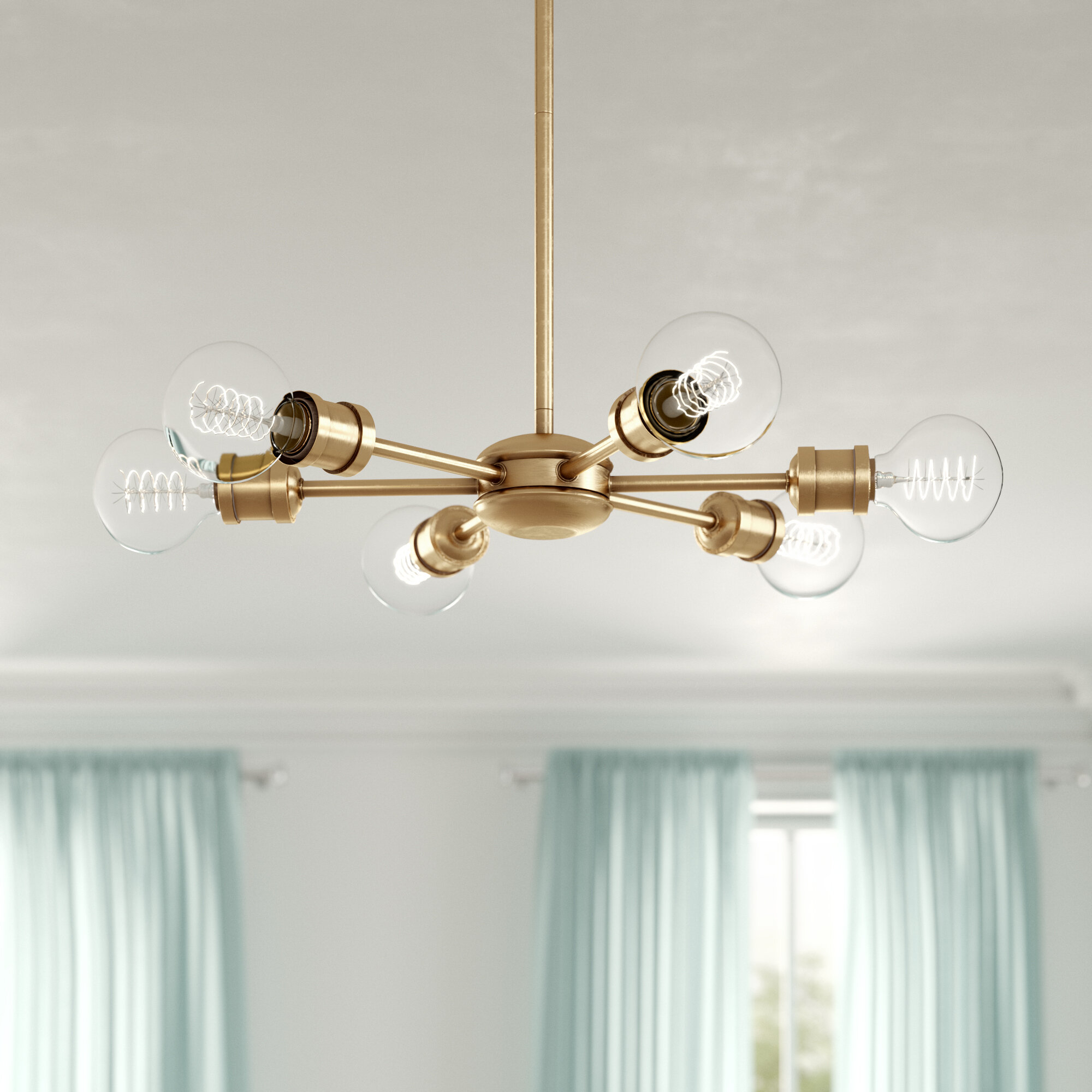 Bautista 6-Light Sputnik Chandelier intended for Asher 12-Light Sputnik Chandeliers (Image 8 of 30)
