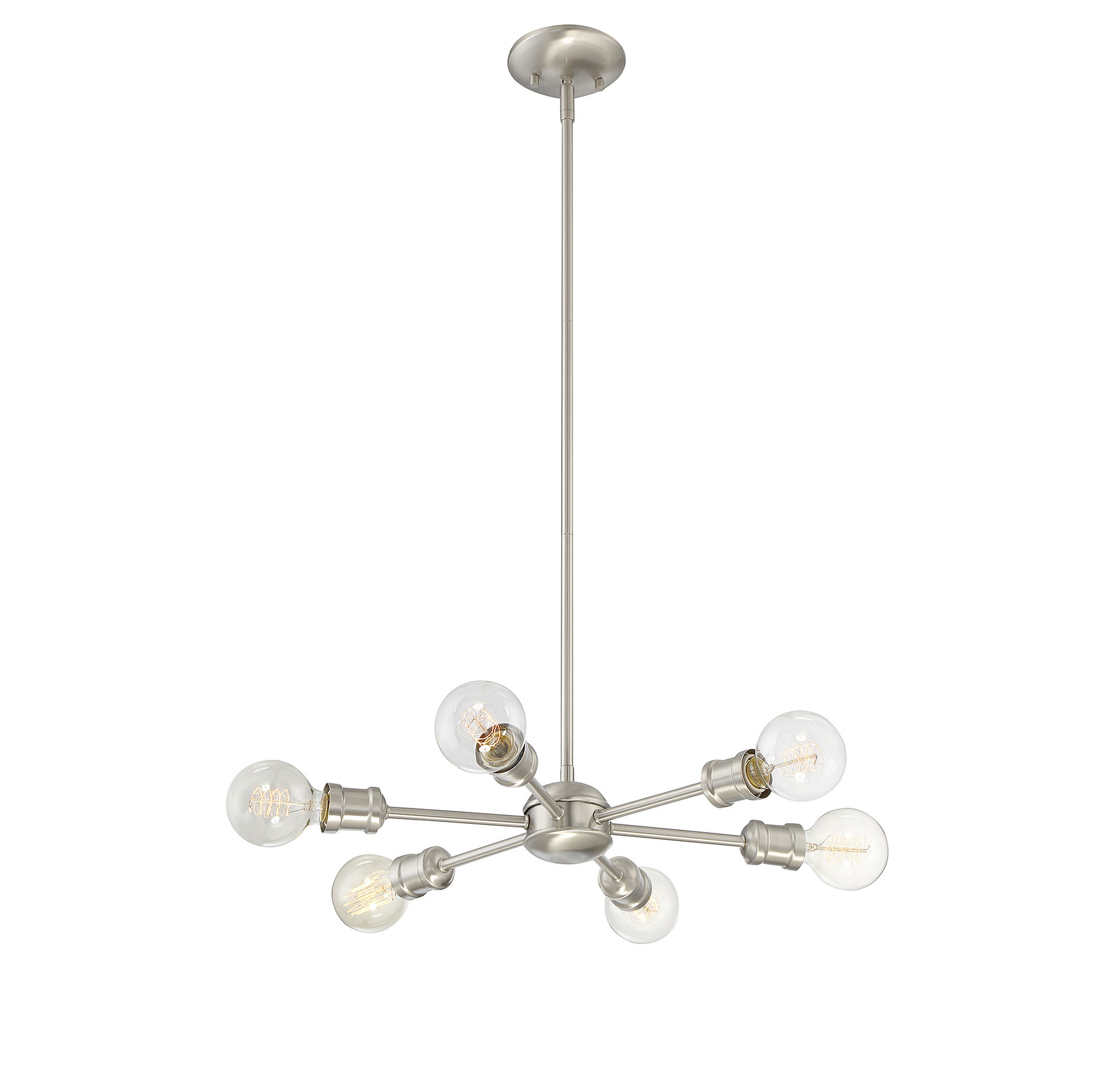 Bautista 6 Light Sputnik Chandelier Pertaining To Bautista 6 Light Kitchen Island Bulb Pendants (View 11 of 30)