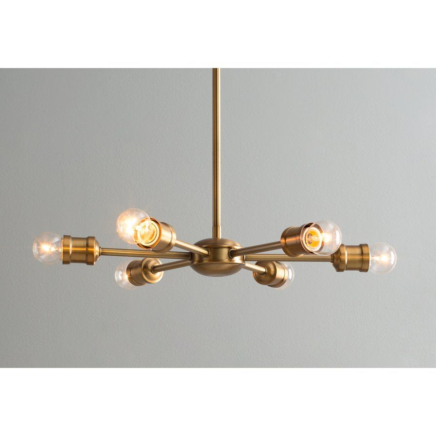Bautista 6 Light Sputnik Chandelier Wayfair $158 | Lighting For Bautista 6 Light Sputnik Chandeliers (View 5 of 30)