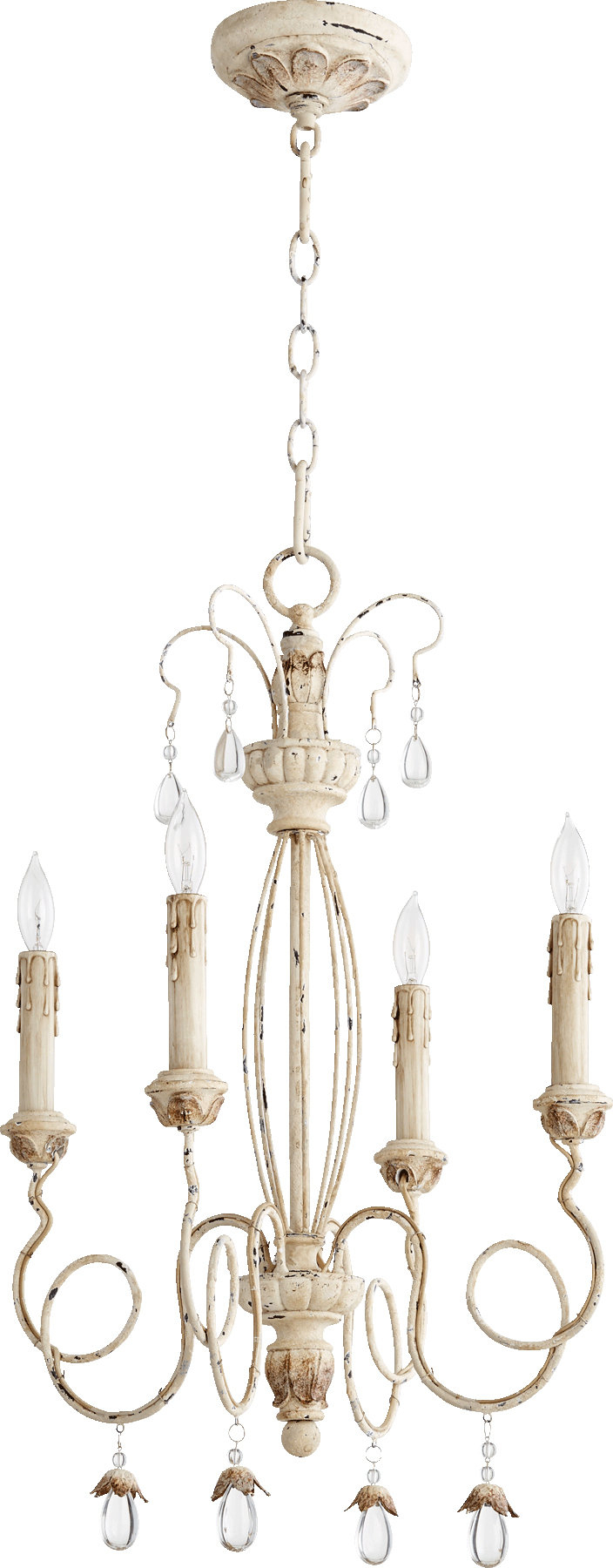 Baxley 4 Light Candle Style Chandelier Regarding Bennington 4 Light Candle Style Chandeliers (View 11 of 30)