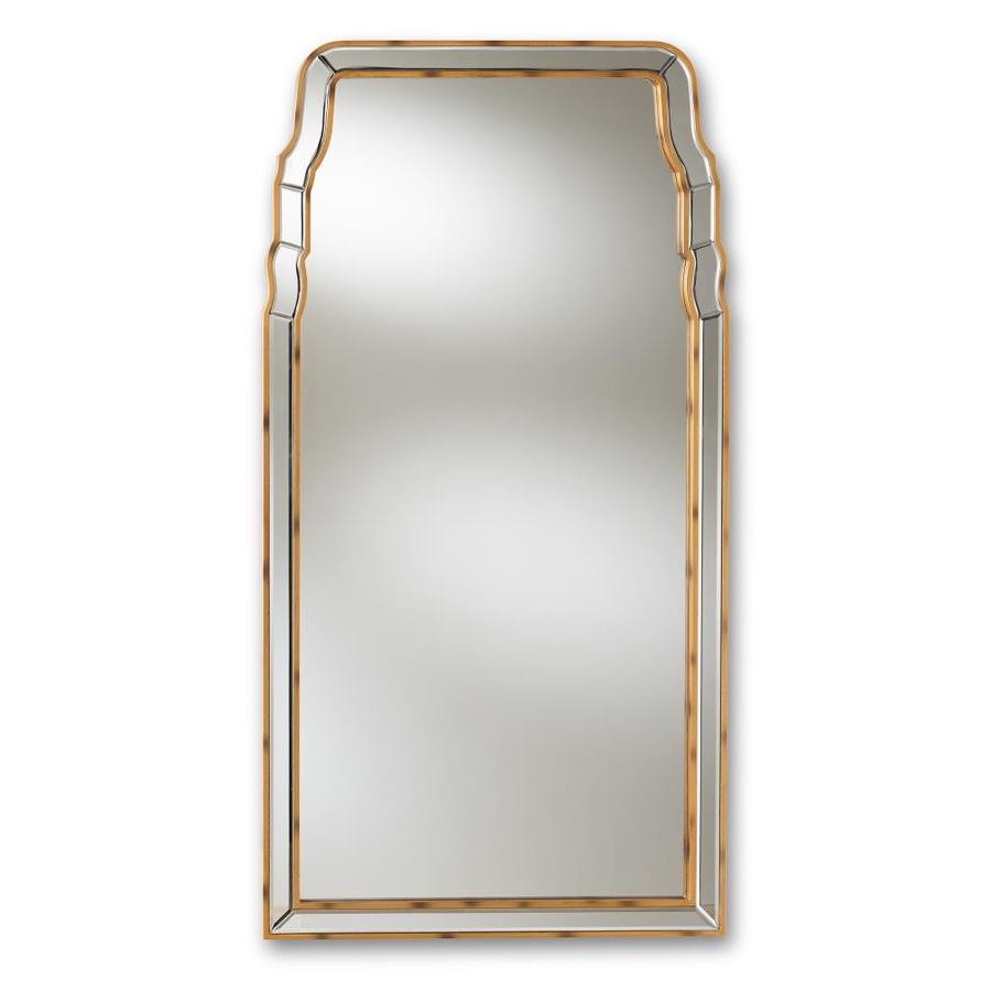 Baxton Studio Alice 50 In L X 26 In W Arch Gold Framed Wall Intended For Gold Arch Wall Mirrors (View 8 of 30)