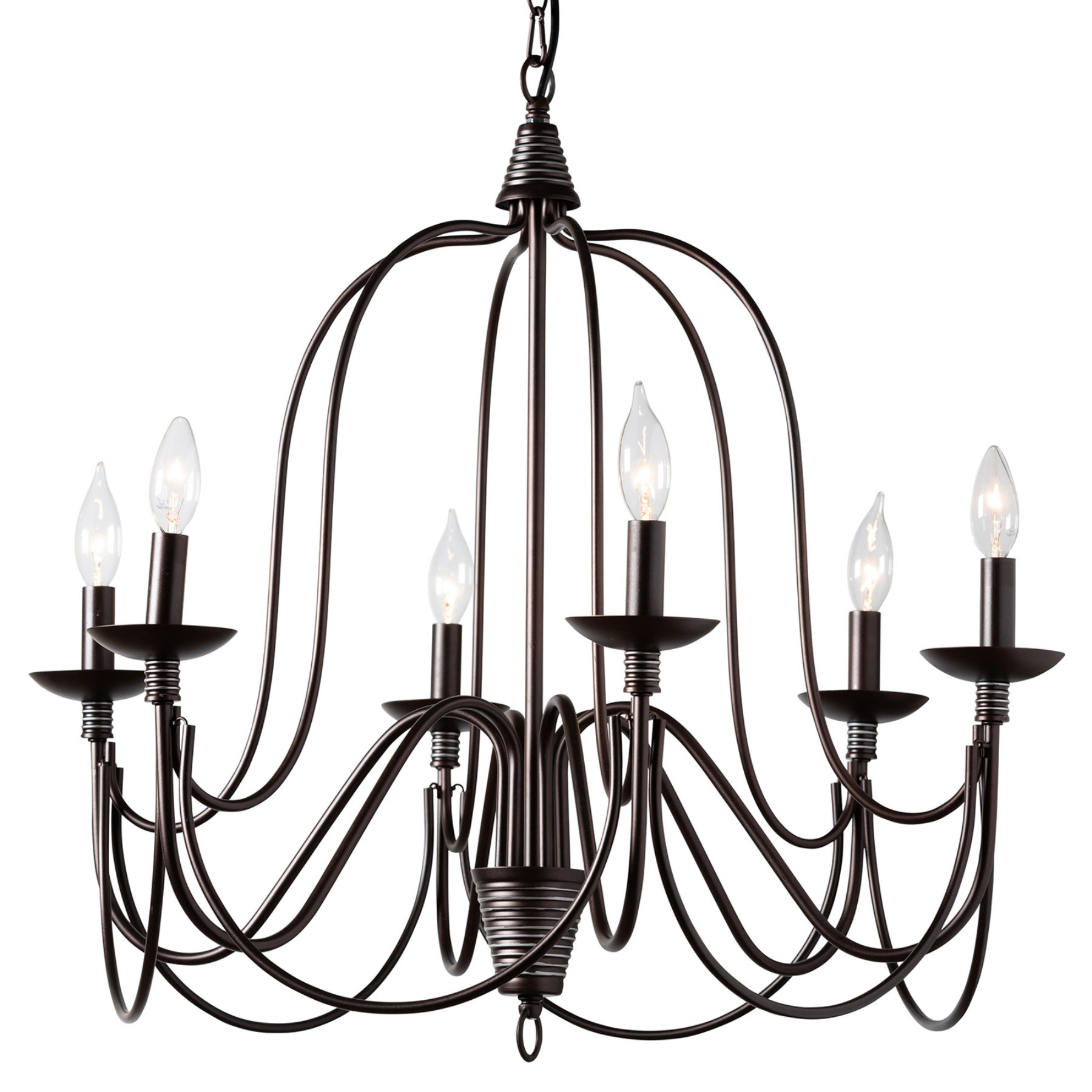 Baxton Studio Palmira Even3680 6 Light Chandelier | Products intended for Watford 6-Light Candle Style Chandeliers (Image 3 of 30)