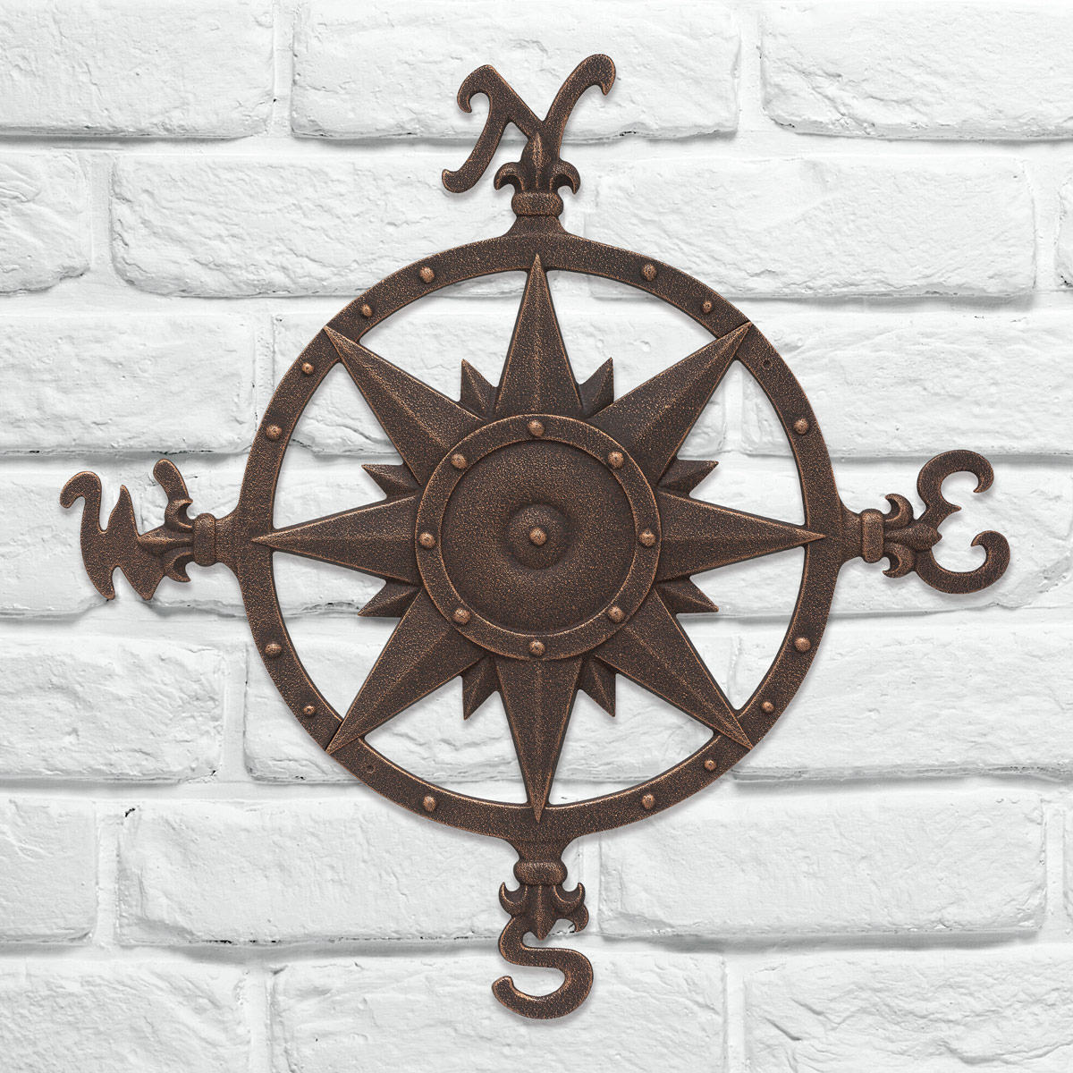 Beach Wall Art: Oil Rub Bronze Compass Rose Wall Décor For Oil Rubbed Metal Wall Decor (View 26 of 30)