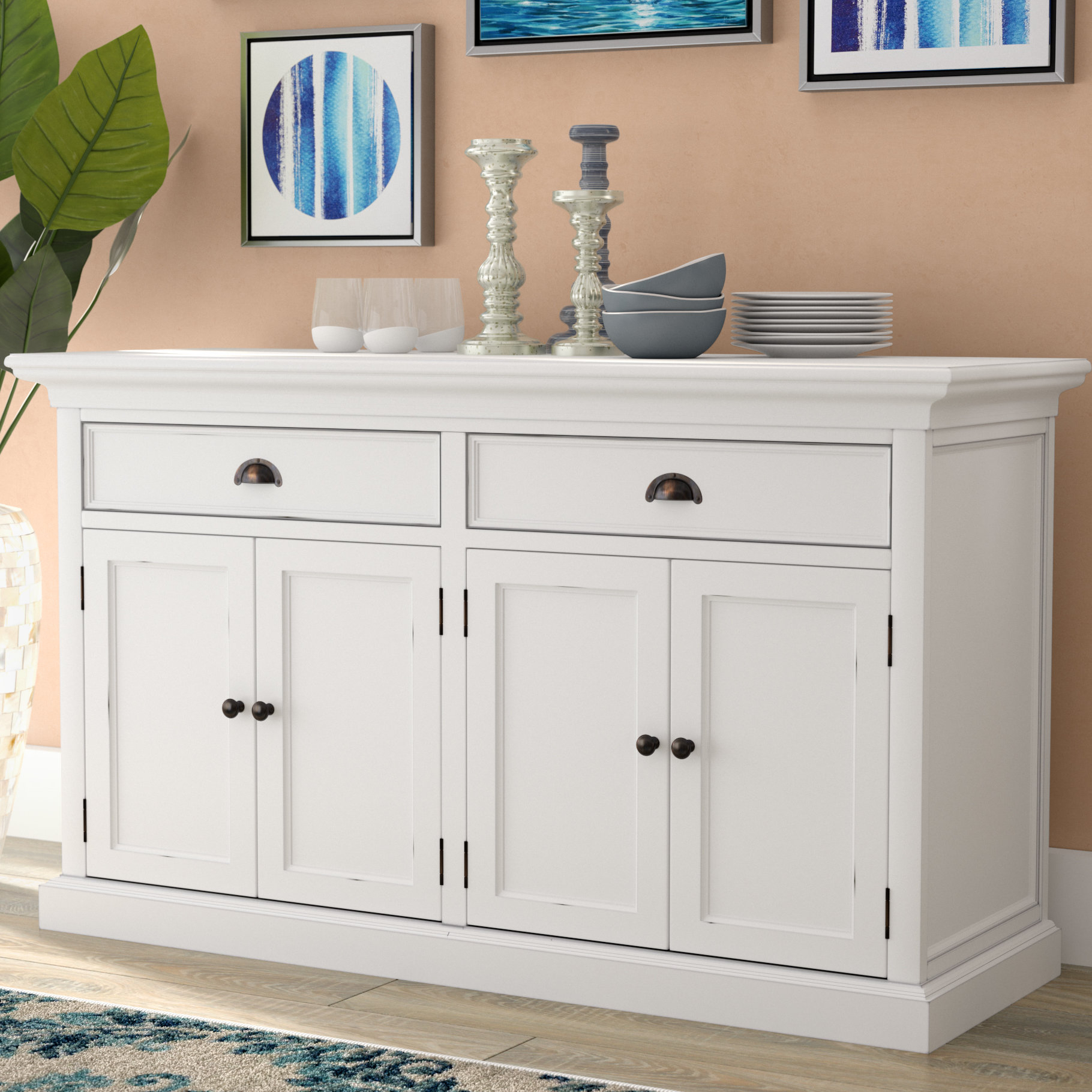 Beachcrest Home Amityville Wood Sideboard & Reviews | Wayfair In Raunds Sideboards (Gallery 20 of 30)