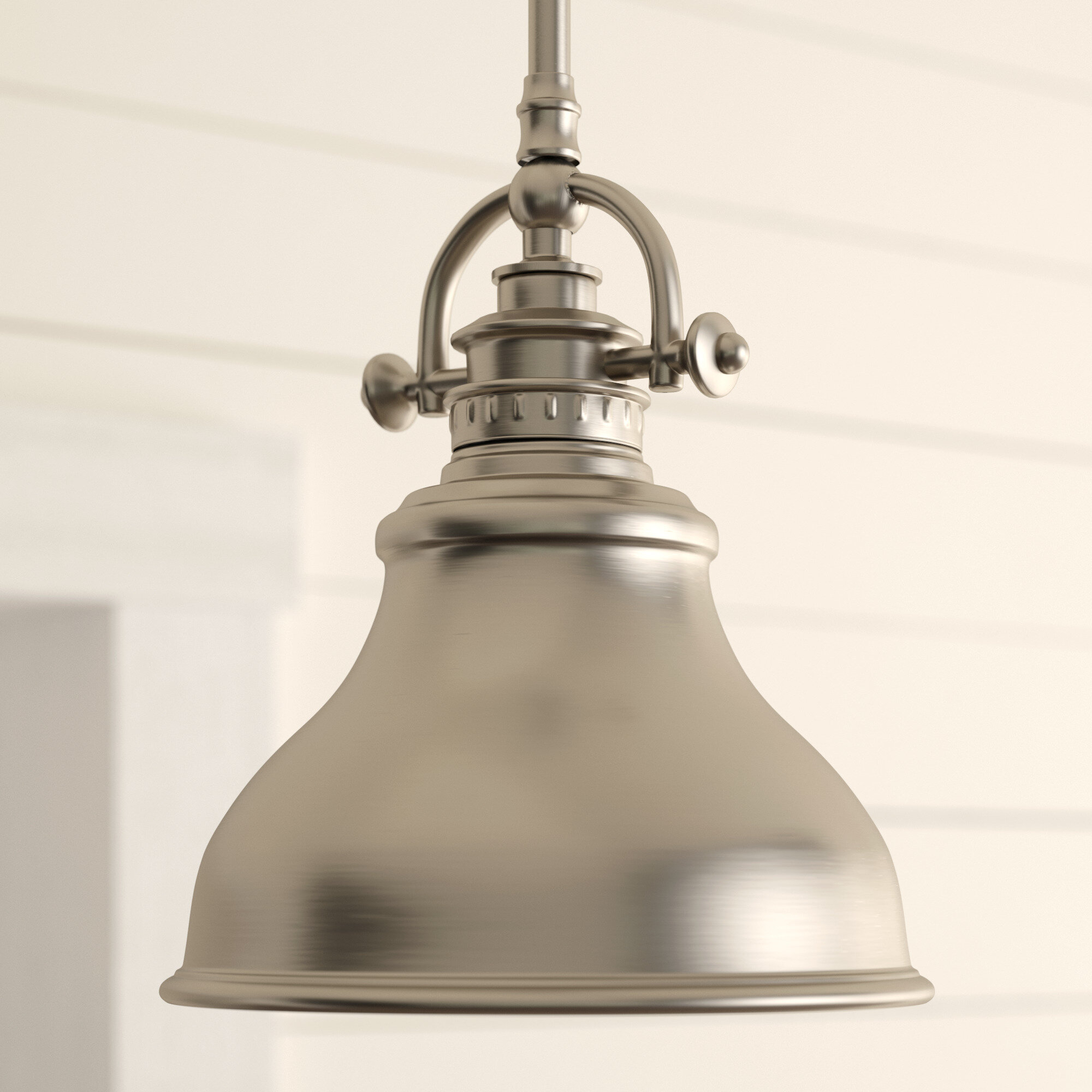 Beachcrest Home Mueller 1-Light Single Dome Pendant intended for Mueller 1-Light Single Dome Pendants (Image 5 of 30)
