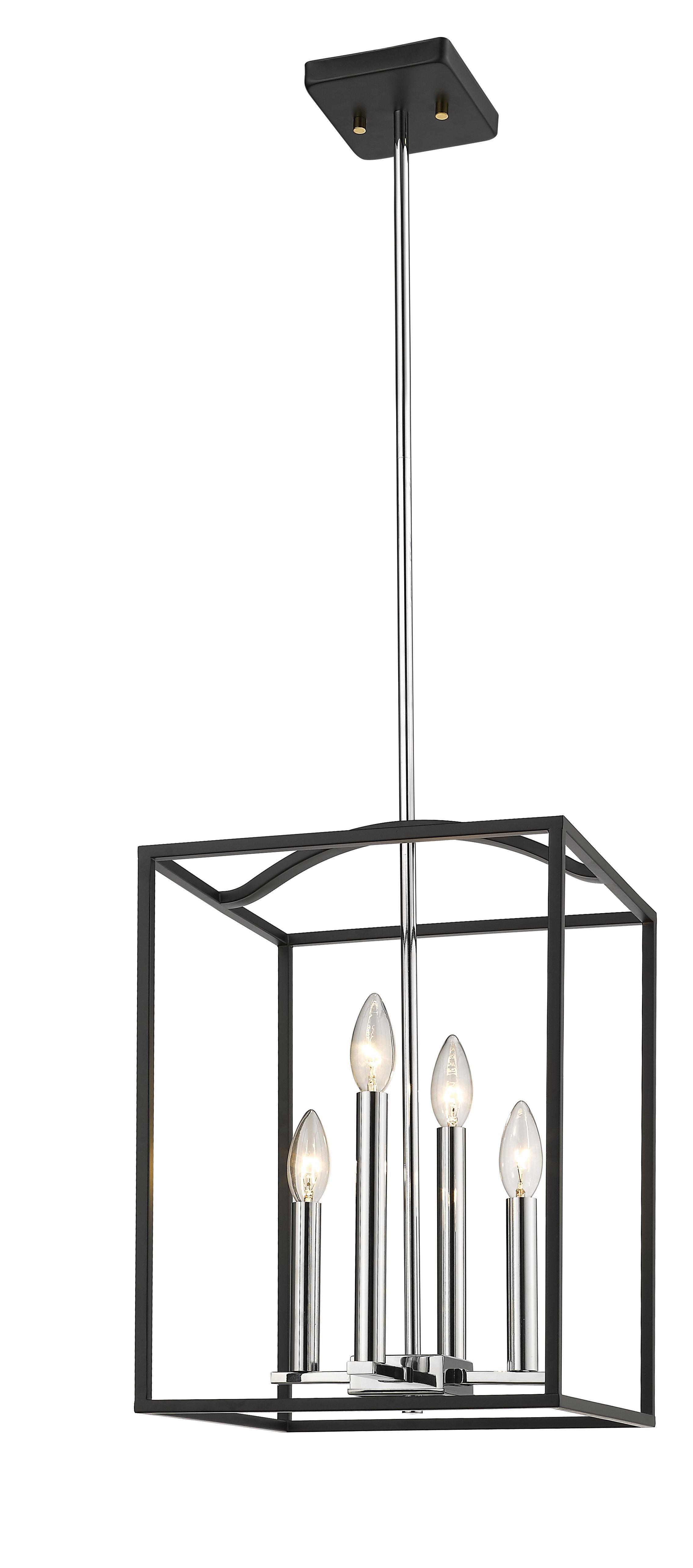 Beacsfield 4-Light Lantern Pendant with regard to Odie 4-Light Lantern Square Pendants (Image 4 of 30)