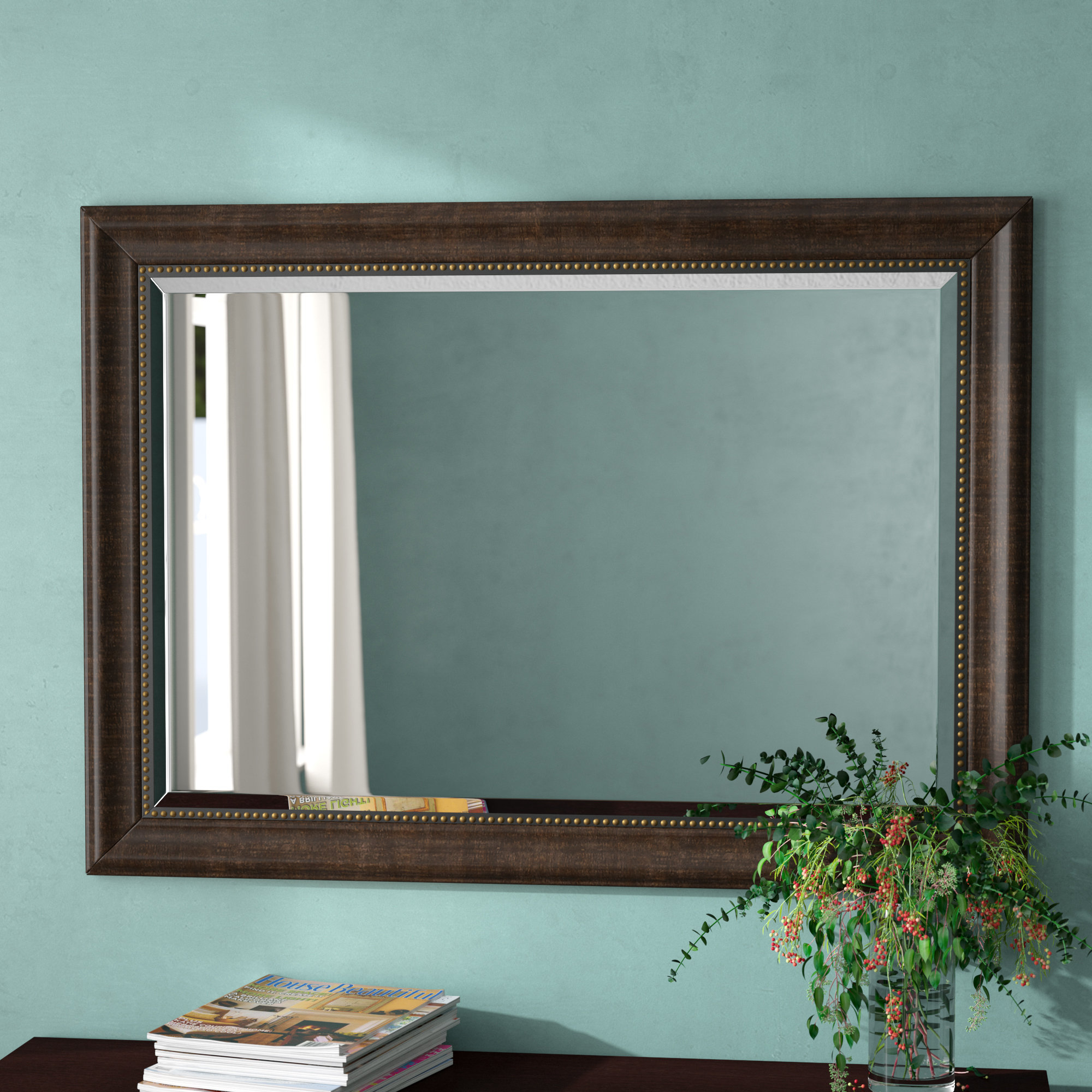 Beaded Mirror | Wayfair With Regard To Lake Park Beveled Beaded Accent Wall Mirrors (View 6 of 30)