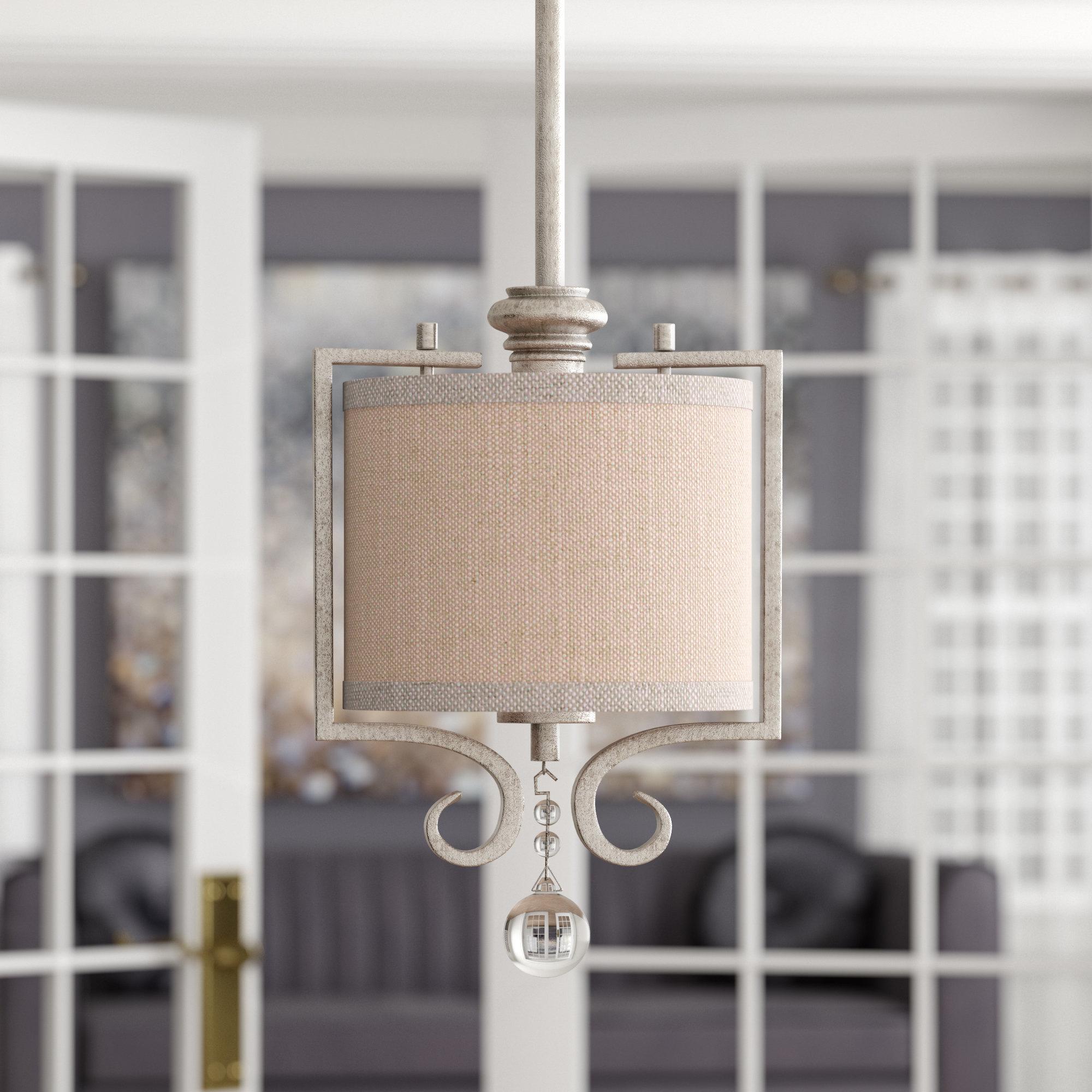 Beasley 1 Light Drum Pendant Within Kraker 1 Light Single Cylinder Pendants (View 10 of 30)