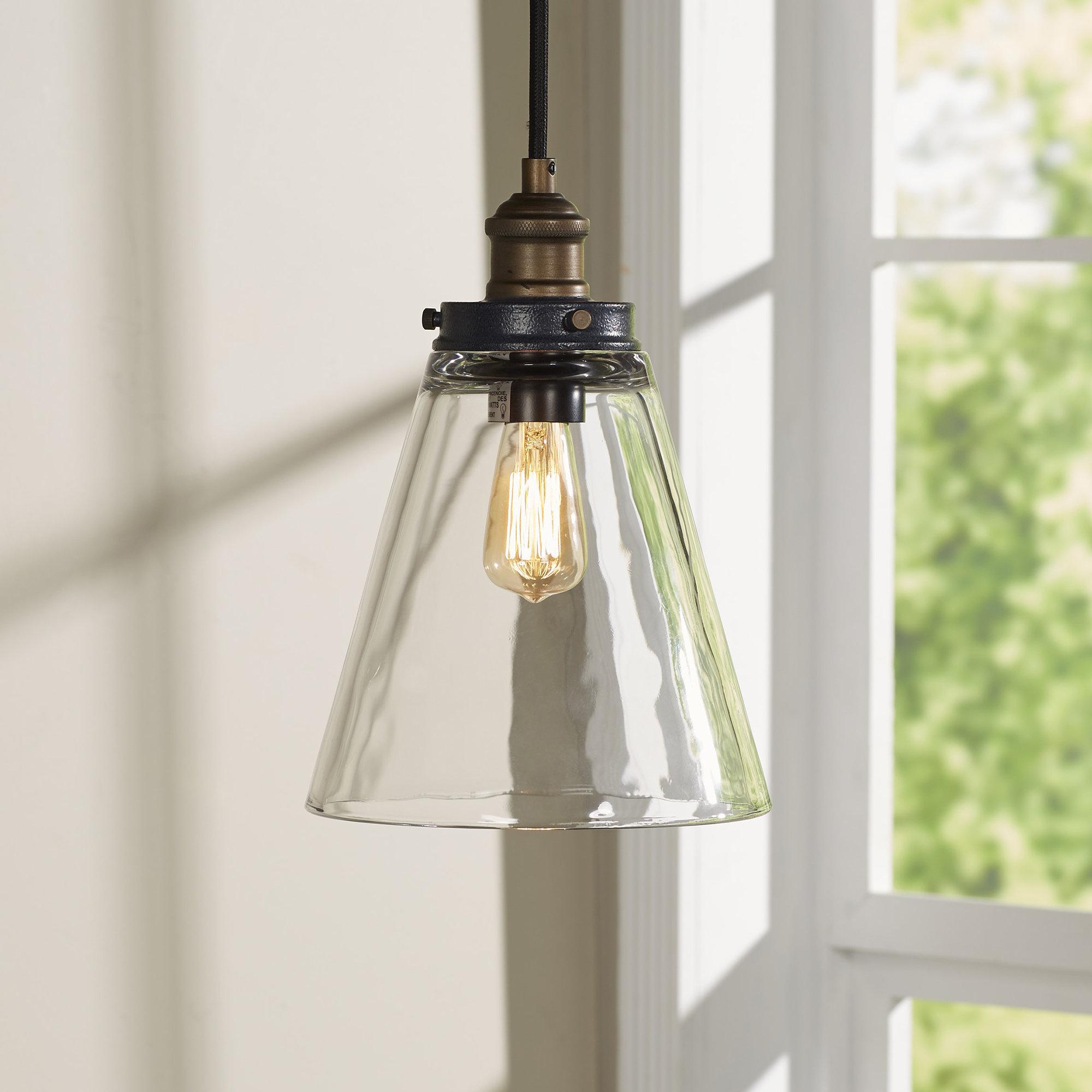 Bedford 1 Light Bell Pendant Regarding Akakios 1 Light Single Bell Pendants (Image 8 of 30)