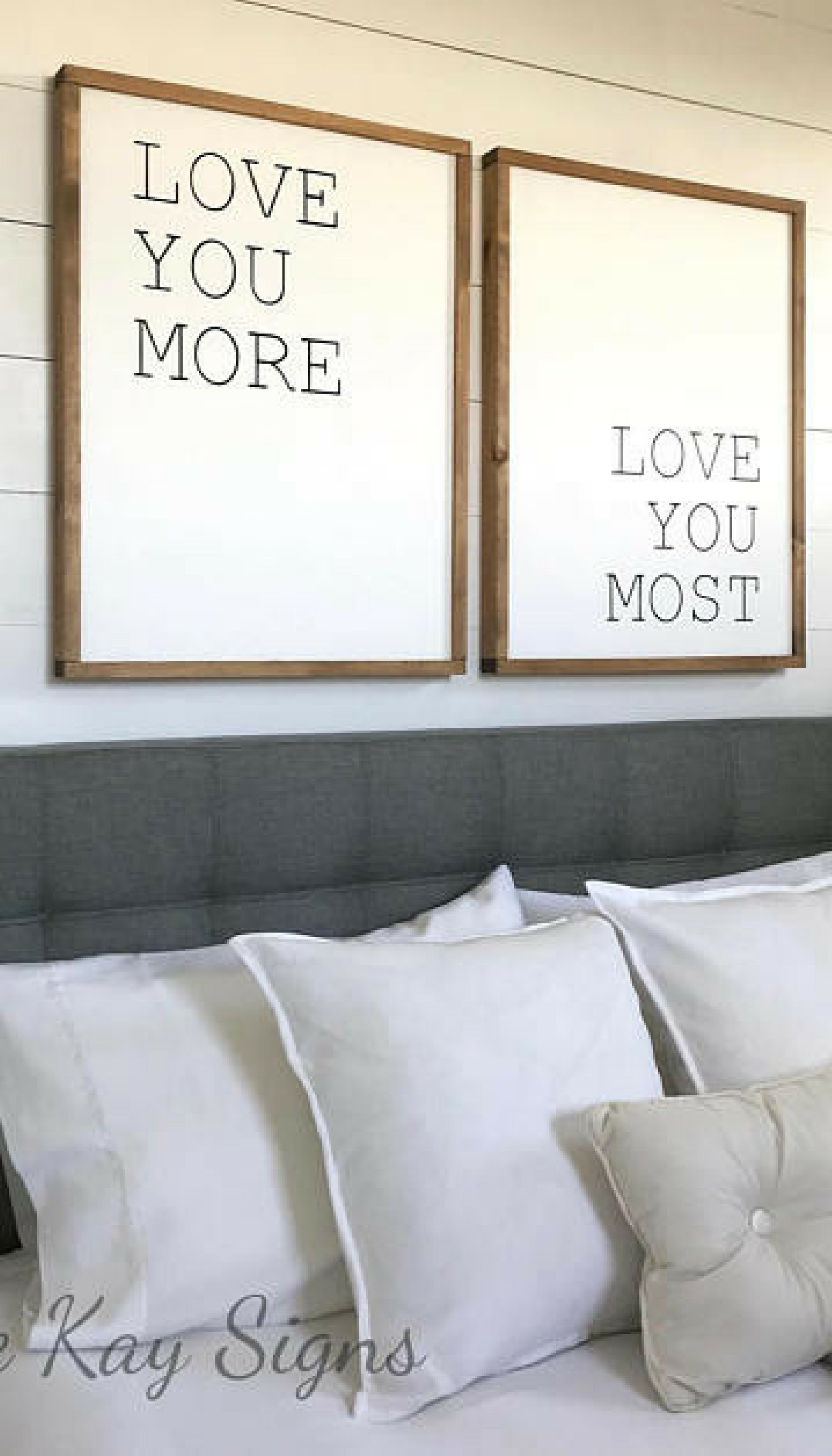 Bedroom Wall Decor | Love You More Love You Most | Wood Sign with regard to 'love You More' Wood Wall Decor (Image 6 of 30)