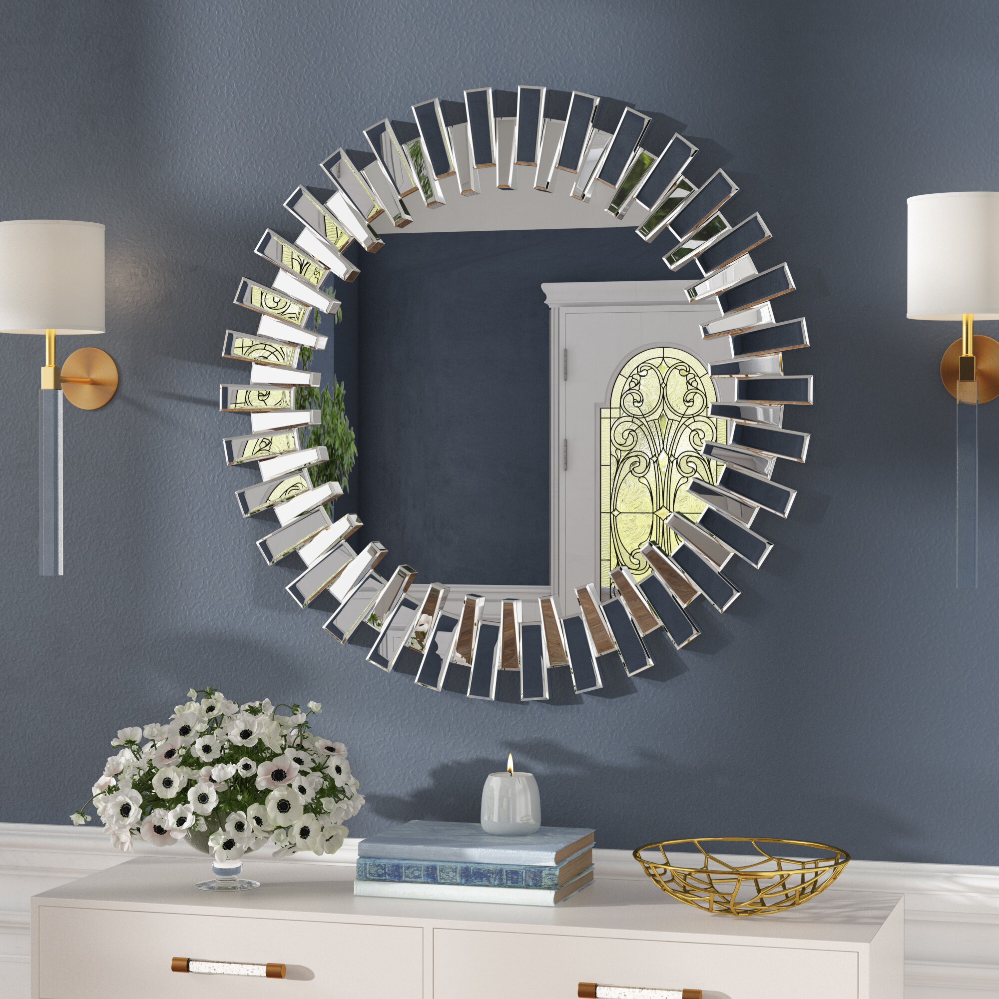 Bekey Modern & Contemporary Beveled Accent Mirror With Modern & Contemporary Beveled Accent Mirrors (View 5 of 30)