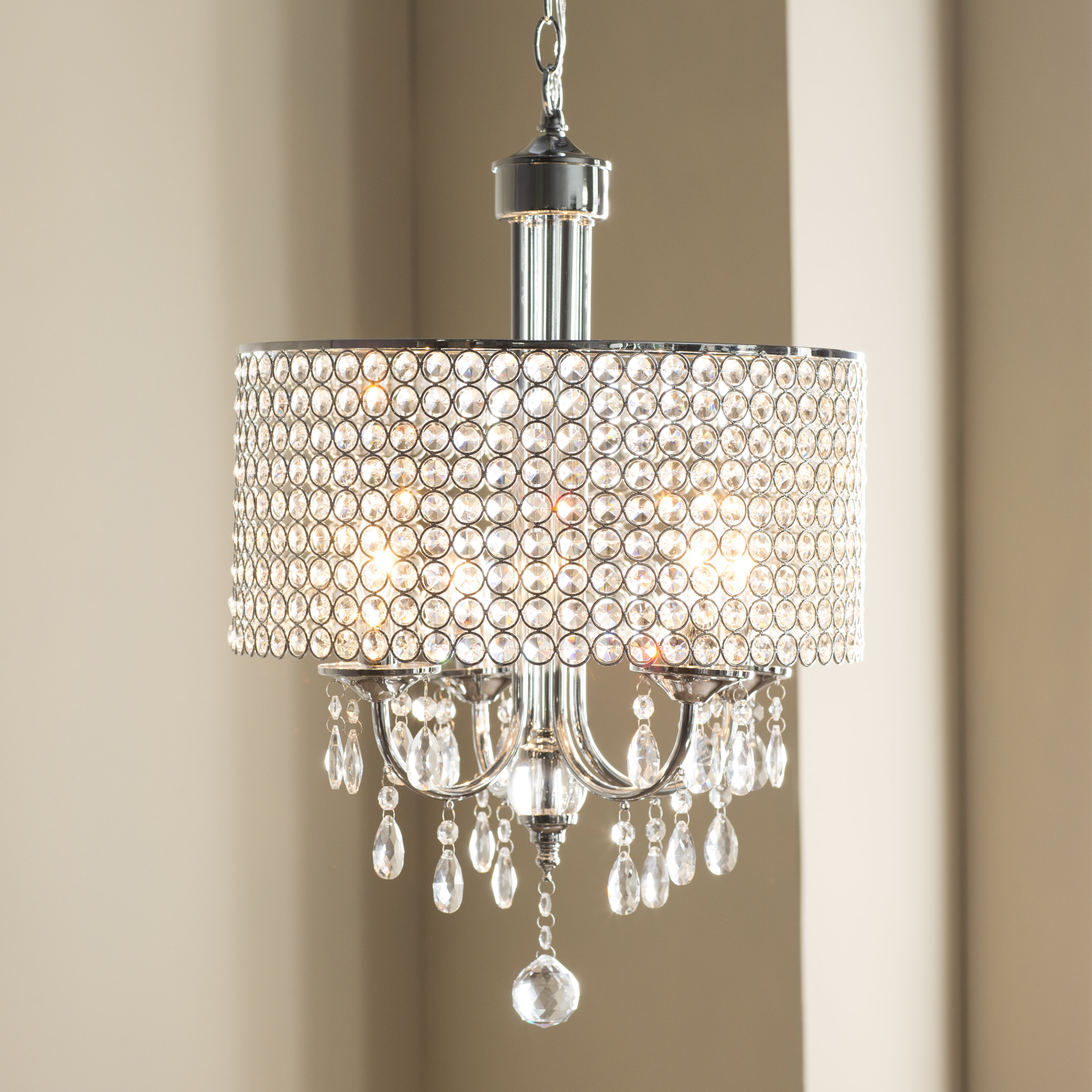 Bella 4 Light Crystal Chandelier With Albano 4 Light Crystal Chandeliers (Image 13 of 30)