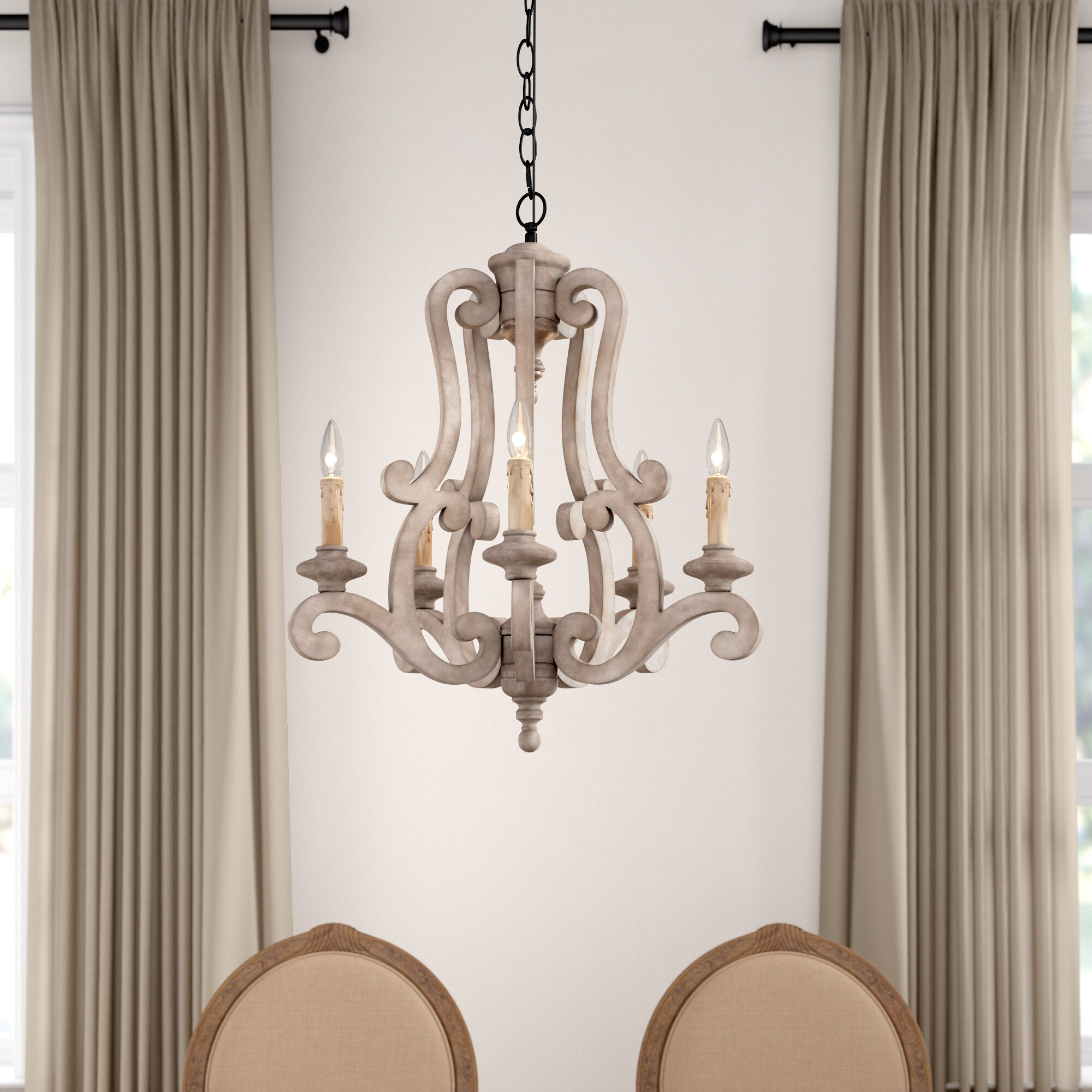 Bella 5-Light Chandelier inside Oriana 4-Light Single Geometric Chandeliers (Image 5 of 30)
