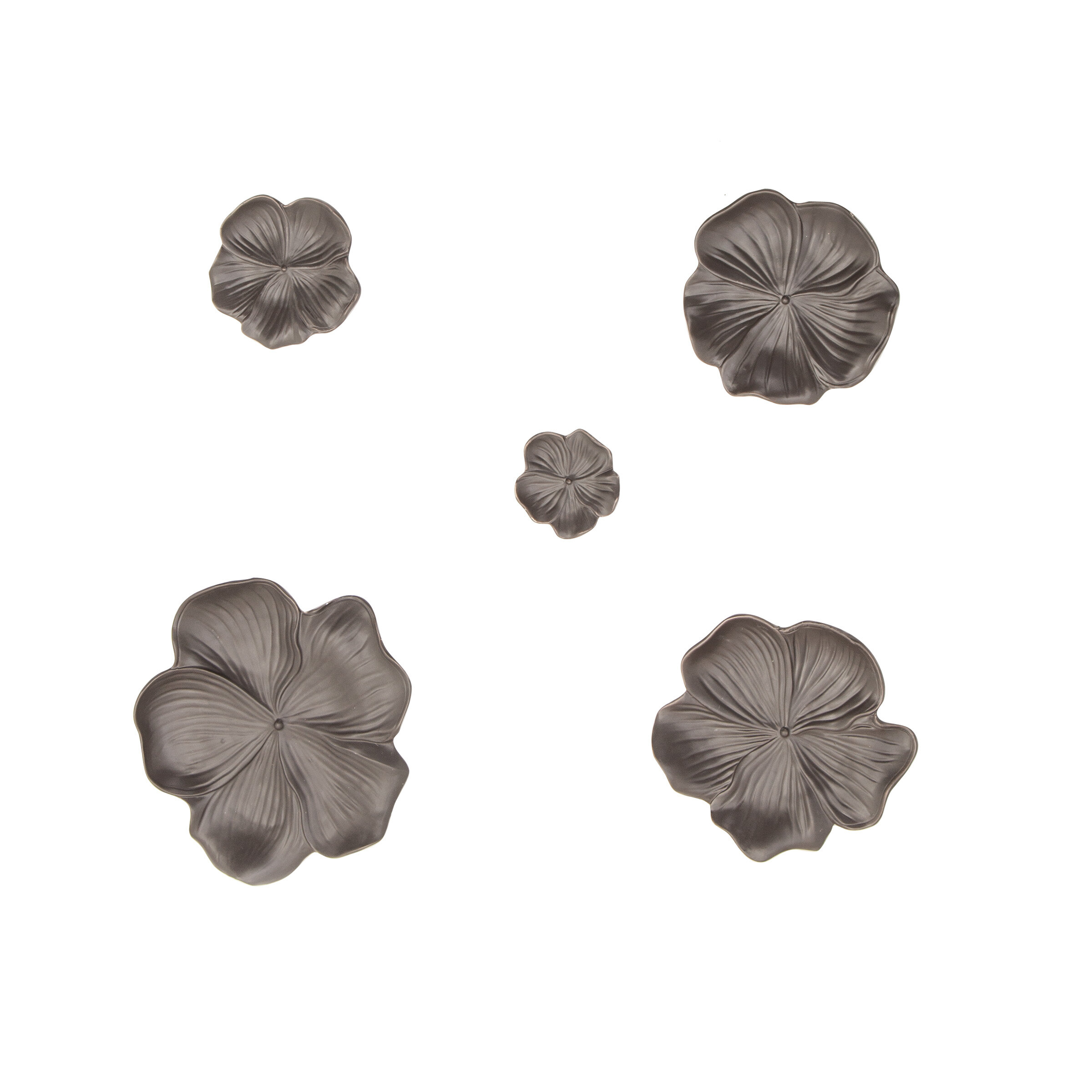 Bellefonte 5 Piece Ceramic Floral Wall Decor Set Throughout Mariposa 9 Piece Wall Decor (View 6 of 30)