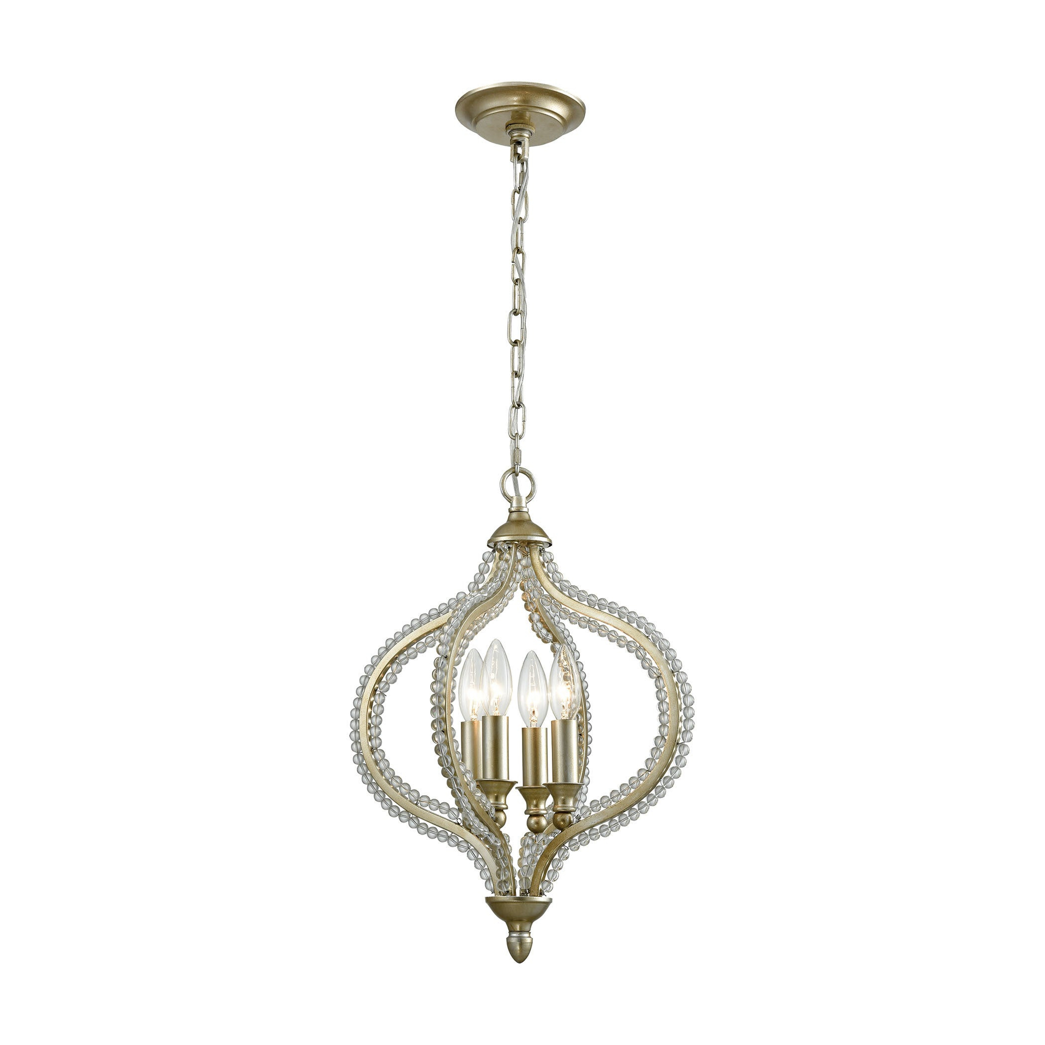 Bennington 4 Light Pendant, Aged Silver With Regard To Bennington 4 Light Candle Style Chandeliers (View 13 of 30)