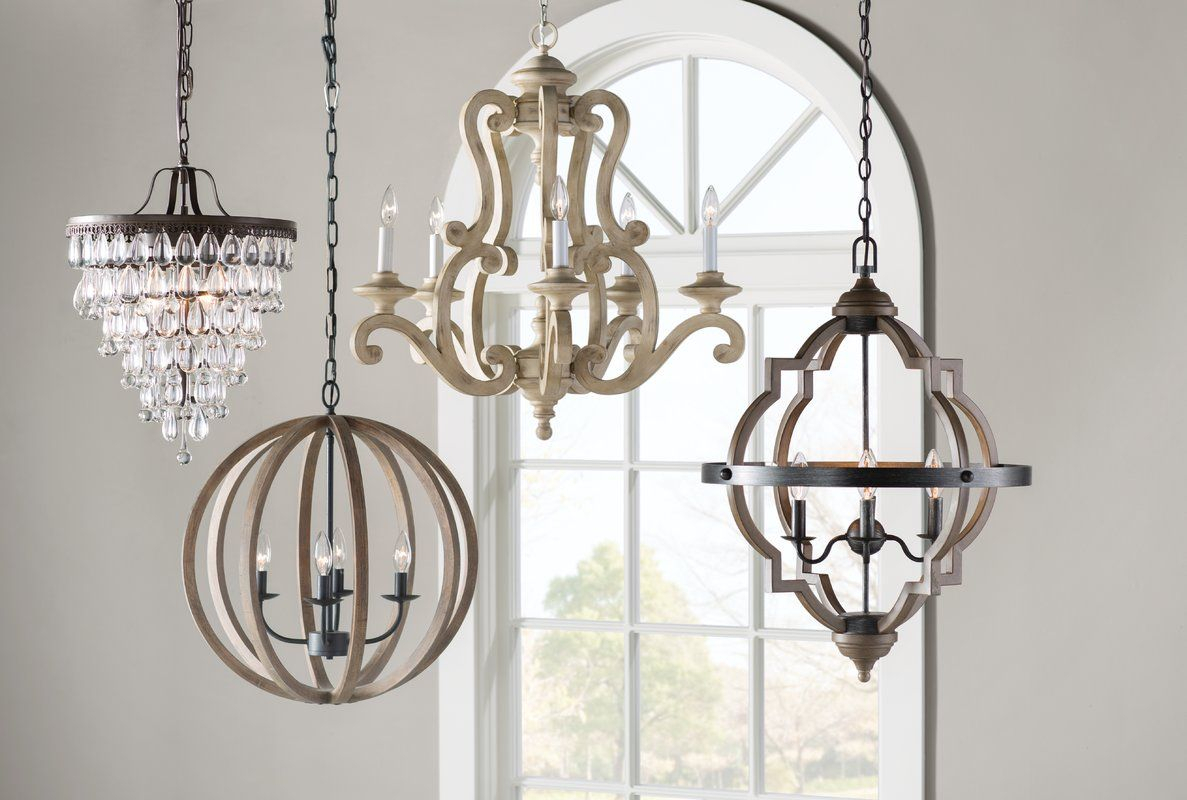 Bennington 6-Light Candle Style Chandelier | Home intended for Janette 5-Light Wagon Wheel Chandeliers (Image 3 of 30)