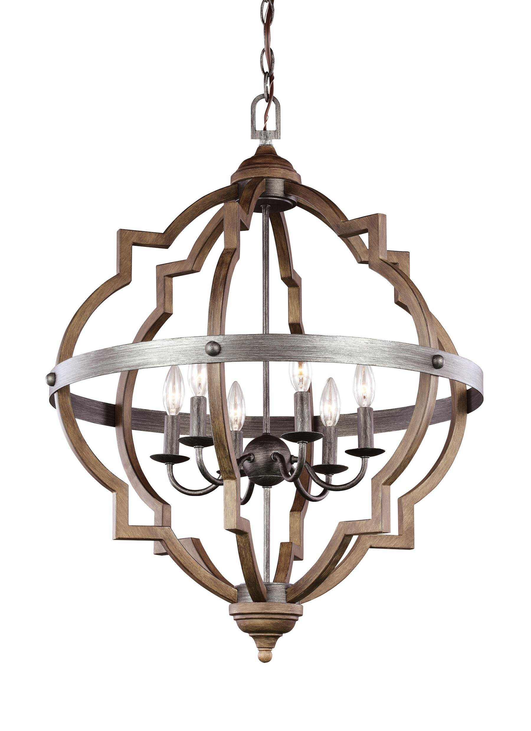 Bennington 6 Light Candle Style Chandelier Pertaining To Bennington 6 Light Candle Style Chandeliers (View 2 of 30)