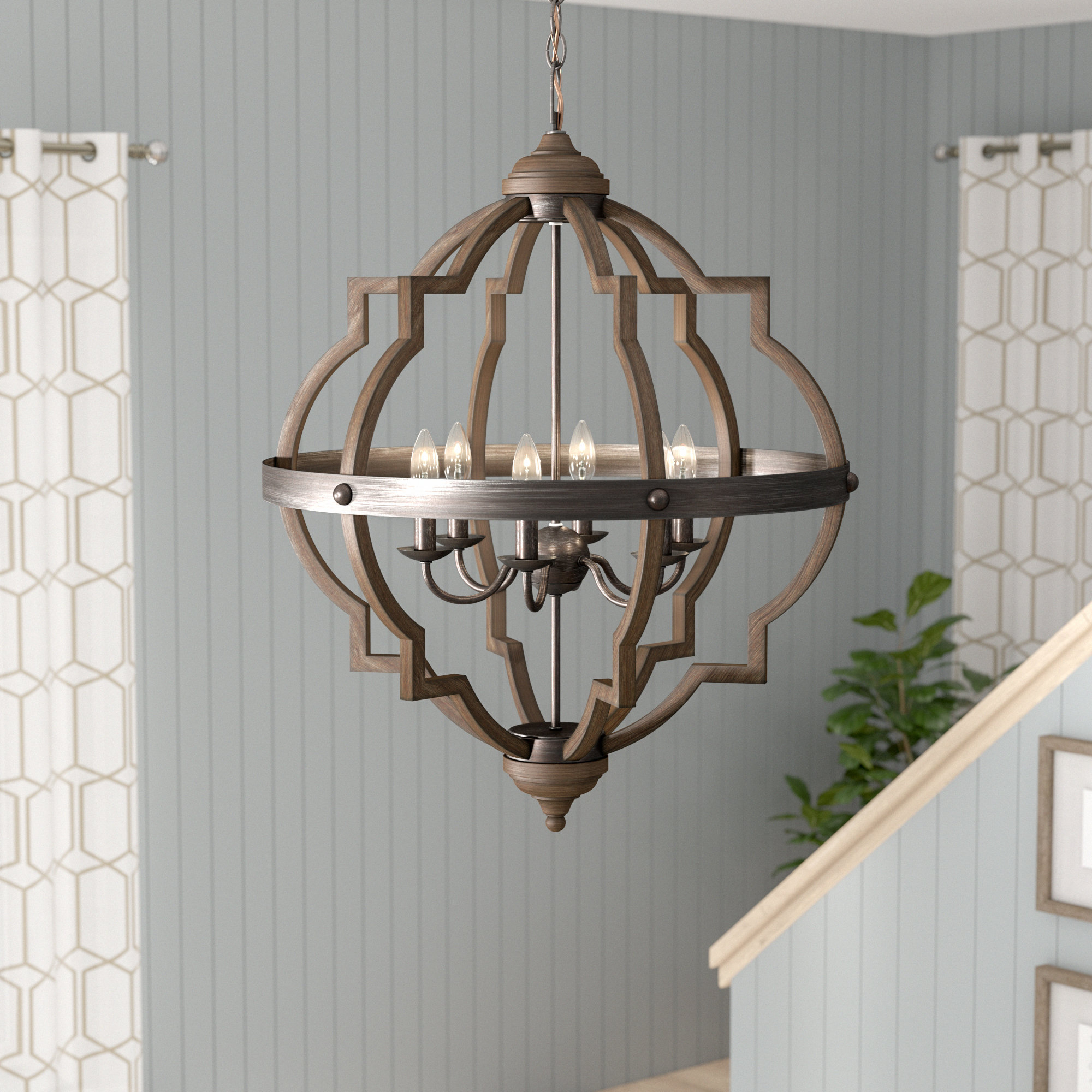 Bennington 6-Light Candle Style Chandelier throughout Donna 6-Light Globe Chandeliers (Image 2 of 30)