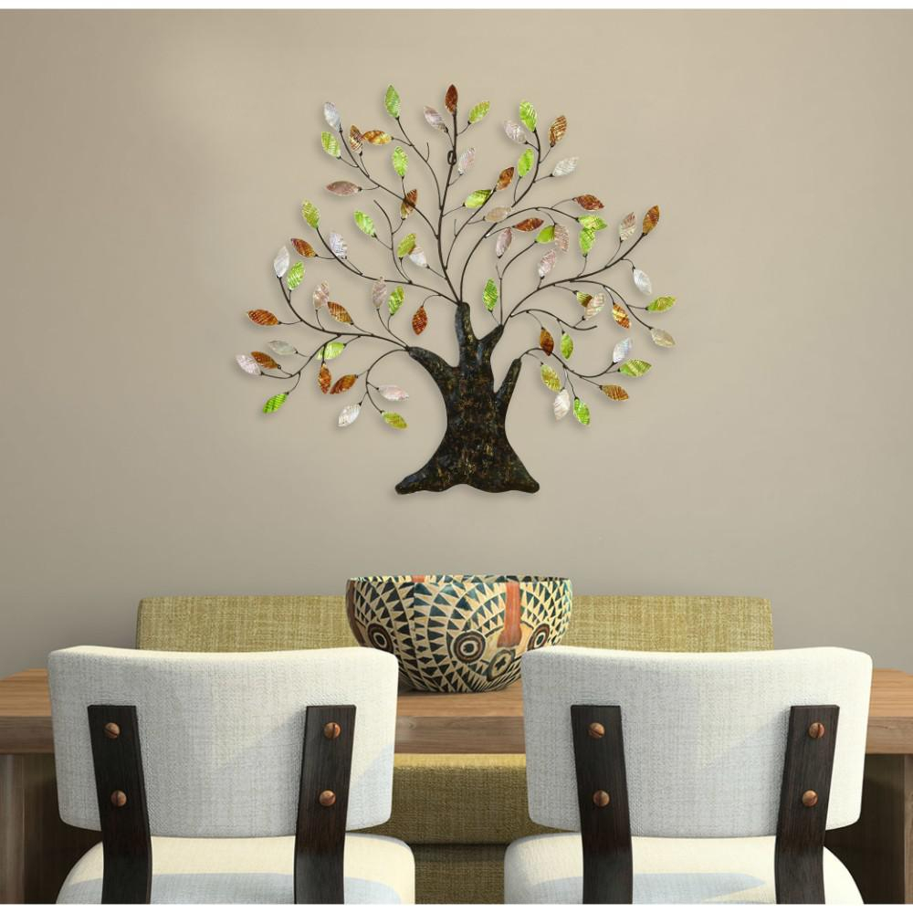Benzara Beautiful Metal Capiz Tree Wall Art Bm00014 – The Within Tree Shell Leaves Sculpture Wall Decor (View 14 of 30)