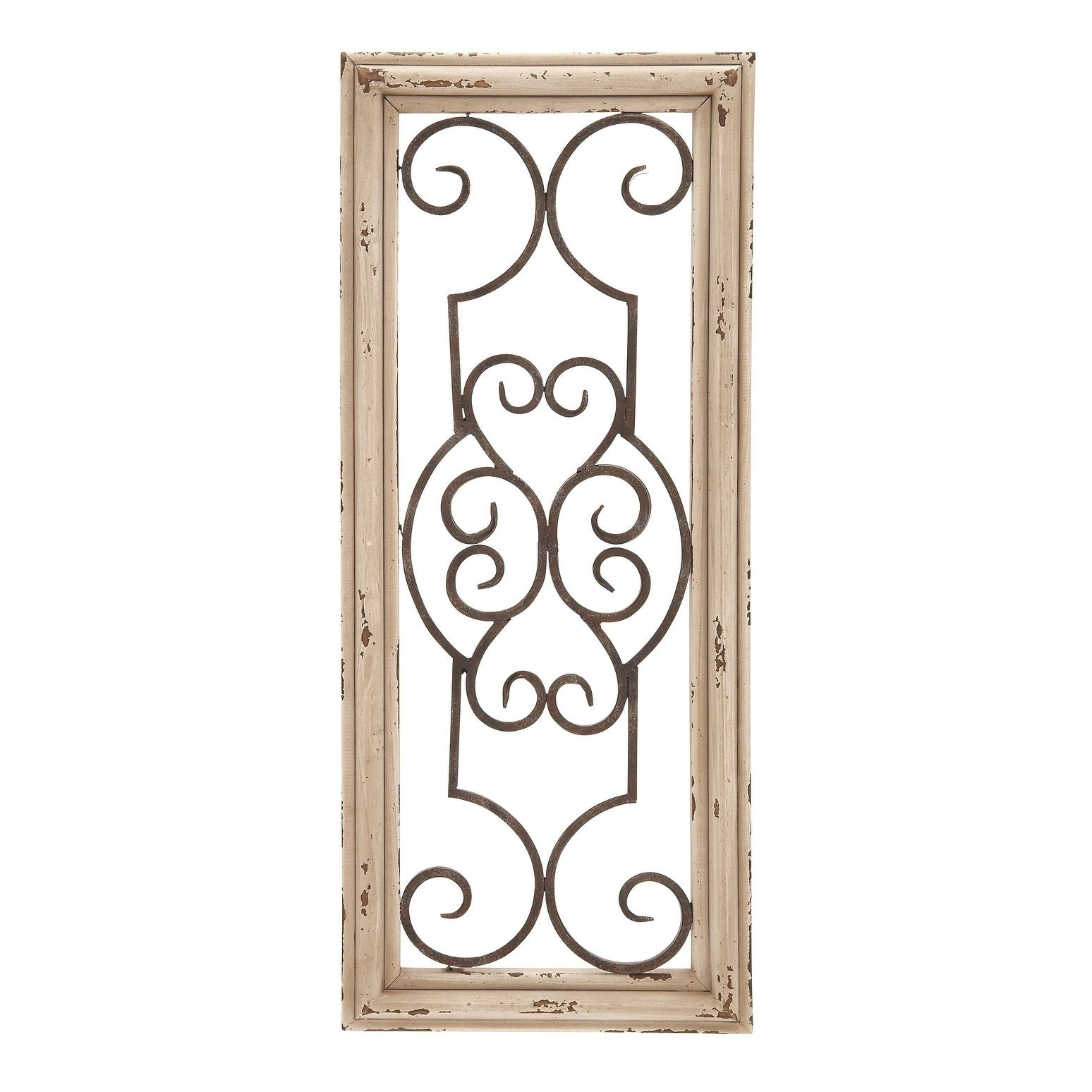 Benzara Wood And Metal Panel Wall Decor, Brown pertaining to Brown Wood And Metal Wall Decor (Image 4 of 30)