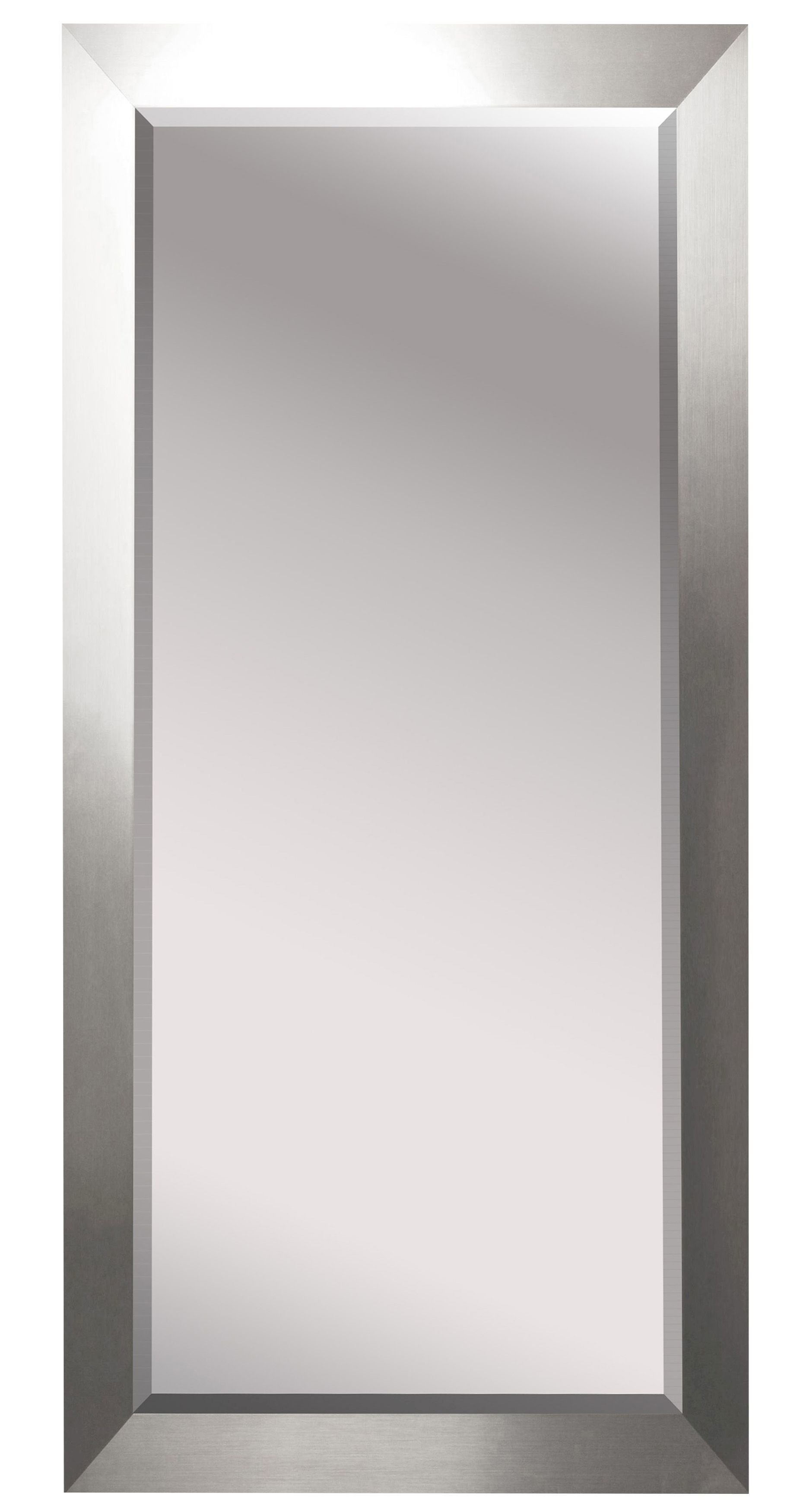 Bernice Beveled Silver Wall Full Length Mirror For Dalessio Wide Tall Full Length Mirrors (View 4 of 30)