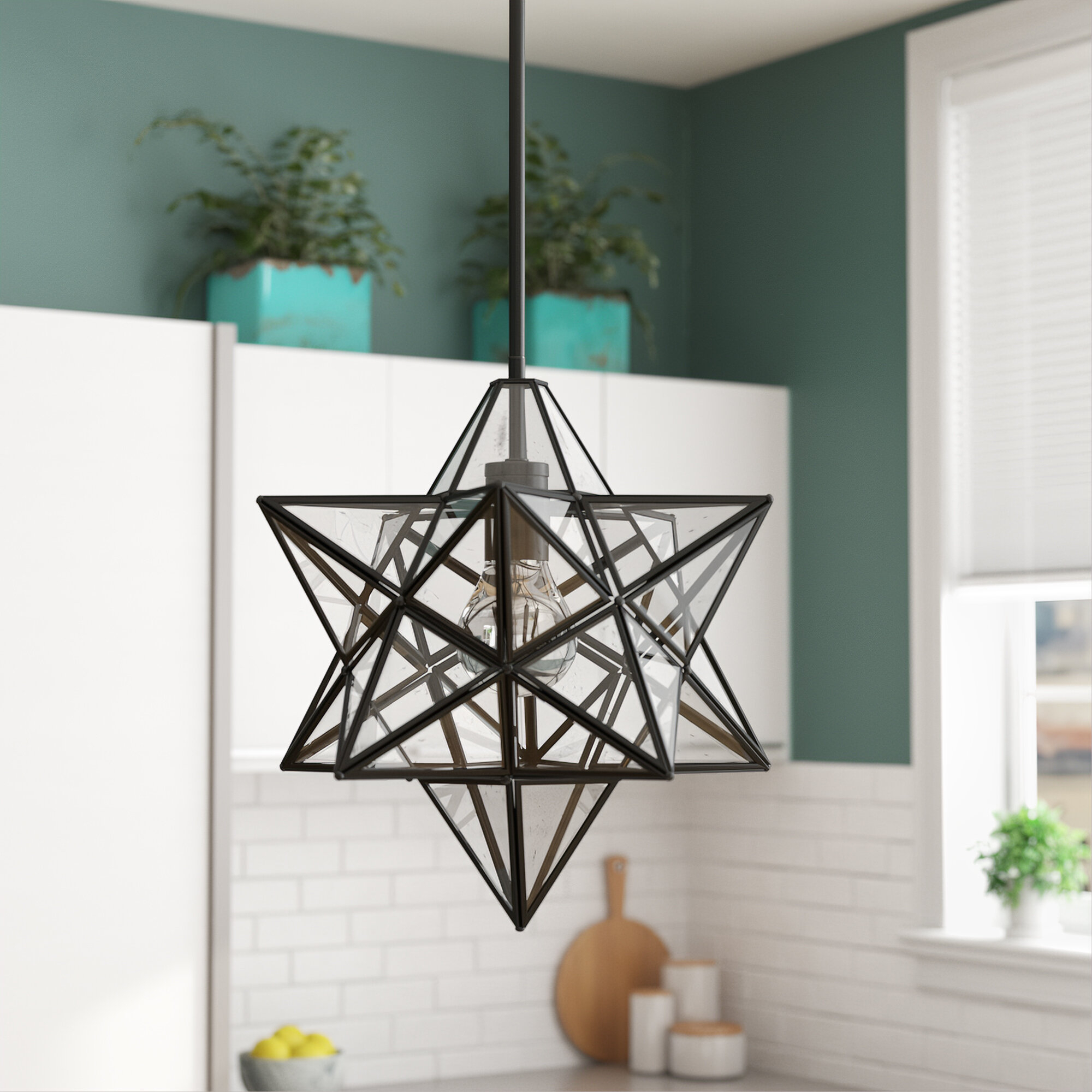Berwick 1-Light Single Star Pendant pertaining to 1-Light Single Star Pendants (Image 6 of 30)